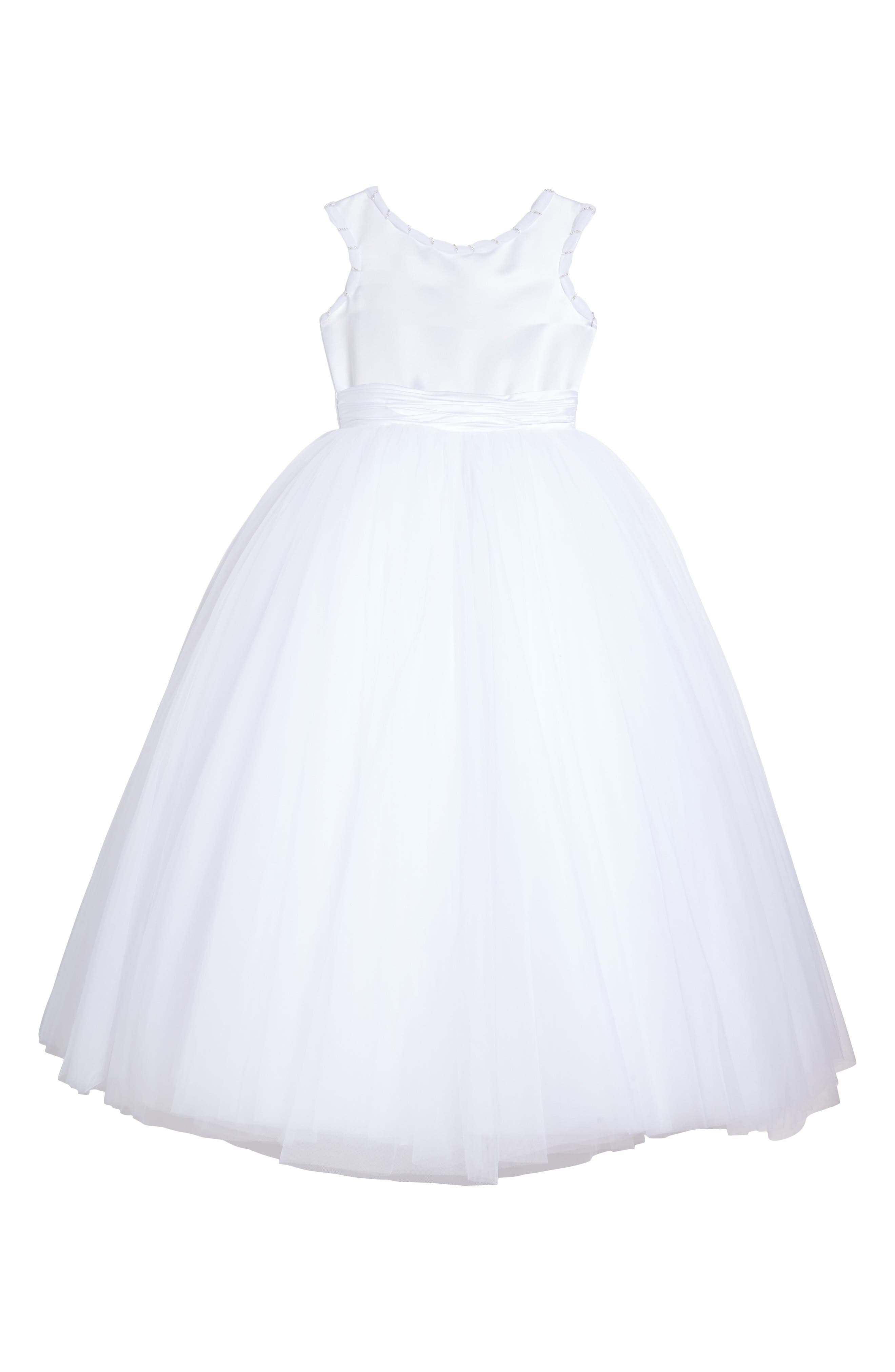 Alternate Image 1 Selected - Joan Calabrese for Mon Cheri Tulle Dress (Little Girls & Big Girls)