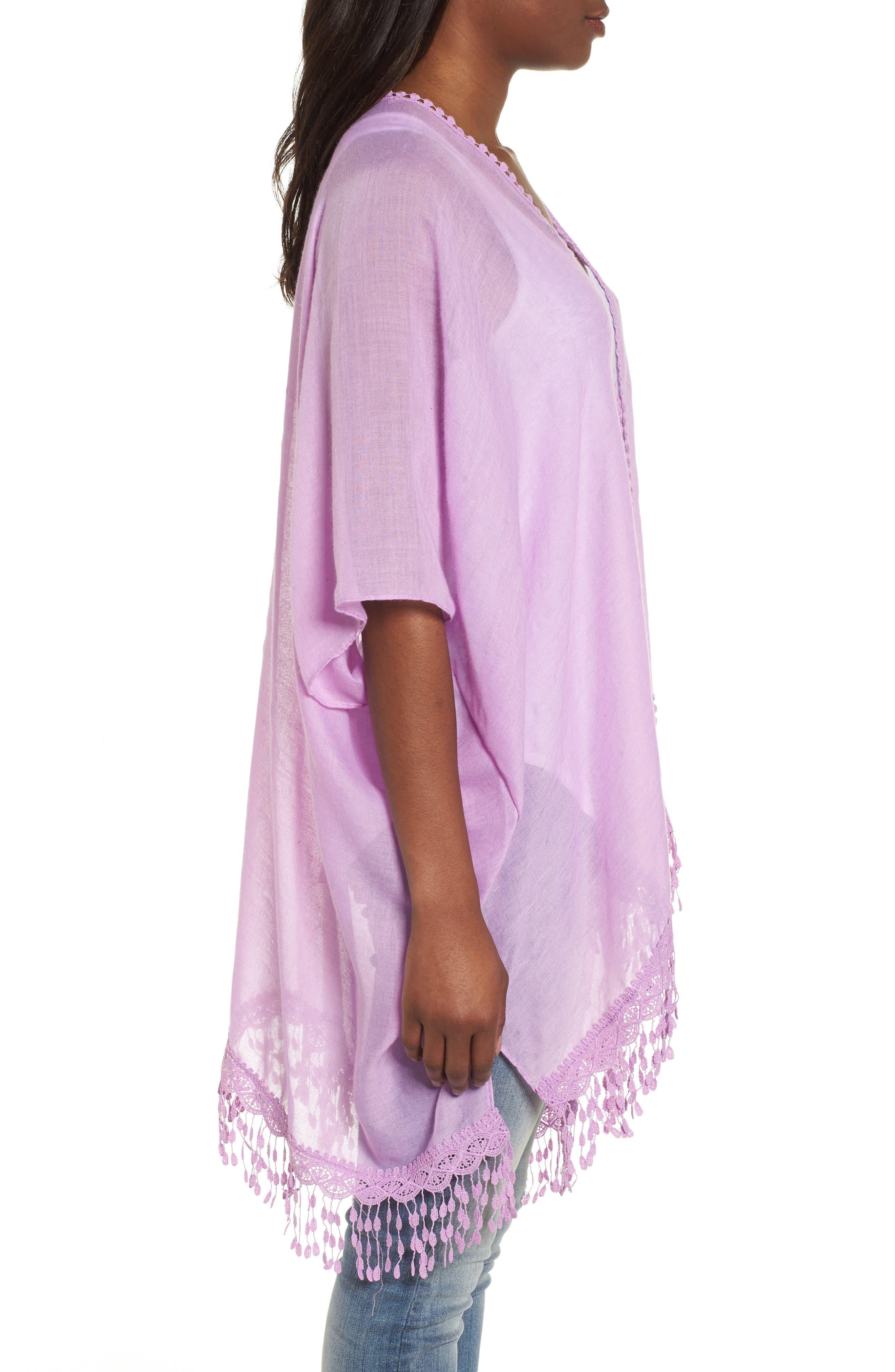 Alternate Image 3  - Caslon® Lace Trim Ruana