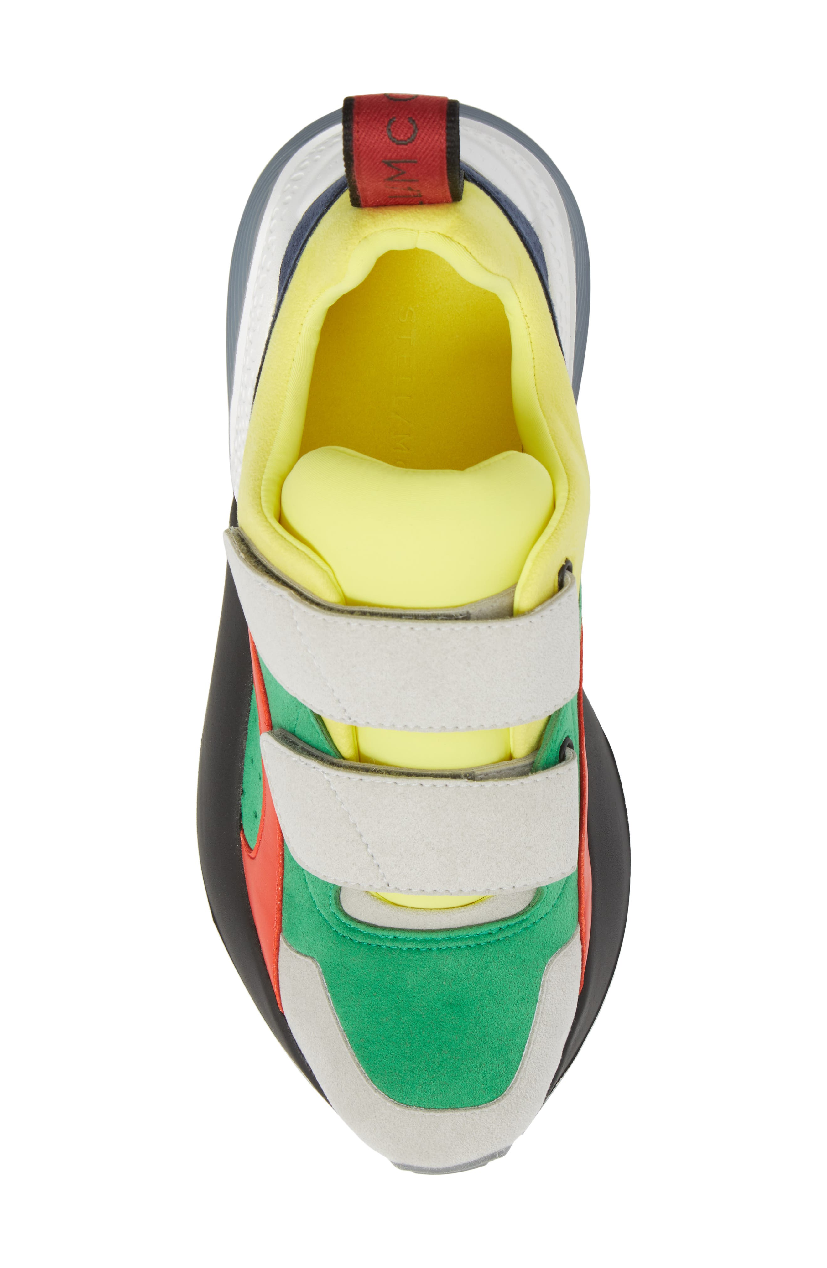 Low Top Sneaker,                             Alternate thumbnail 5, color,                             Grey/ Green/  Yellow