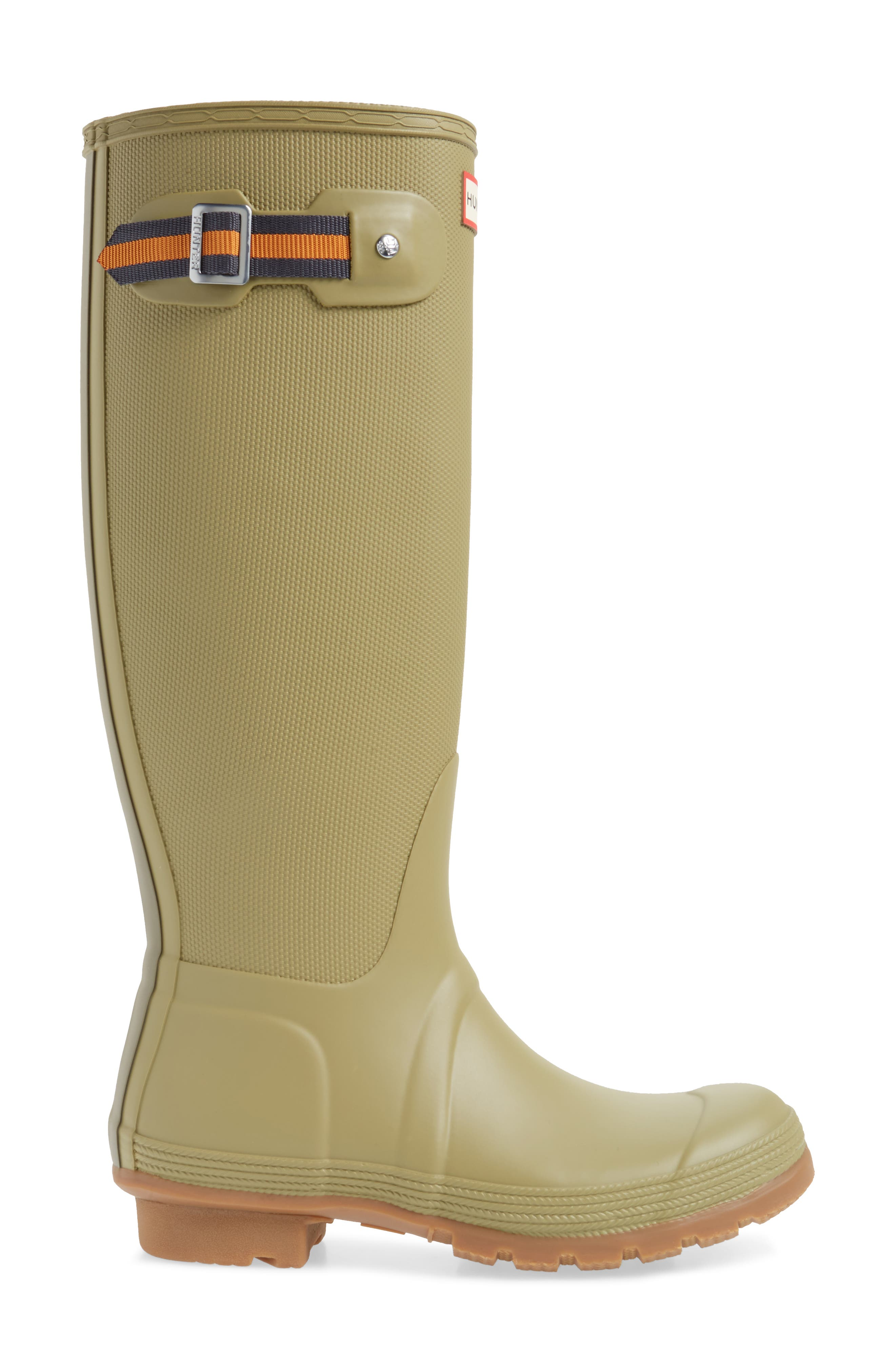 Original Sissinghurst Tall Rain Boot,                             Alternate thumbnail 3, color,                             Sage/ Moor Green