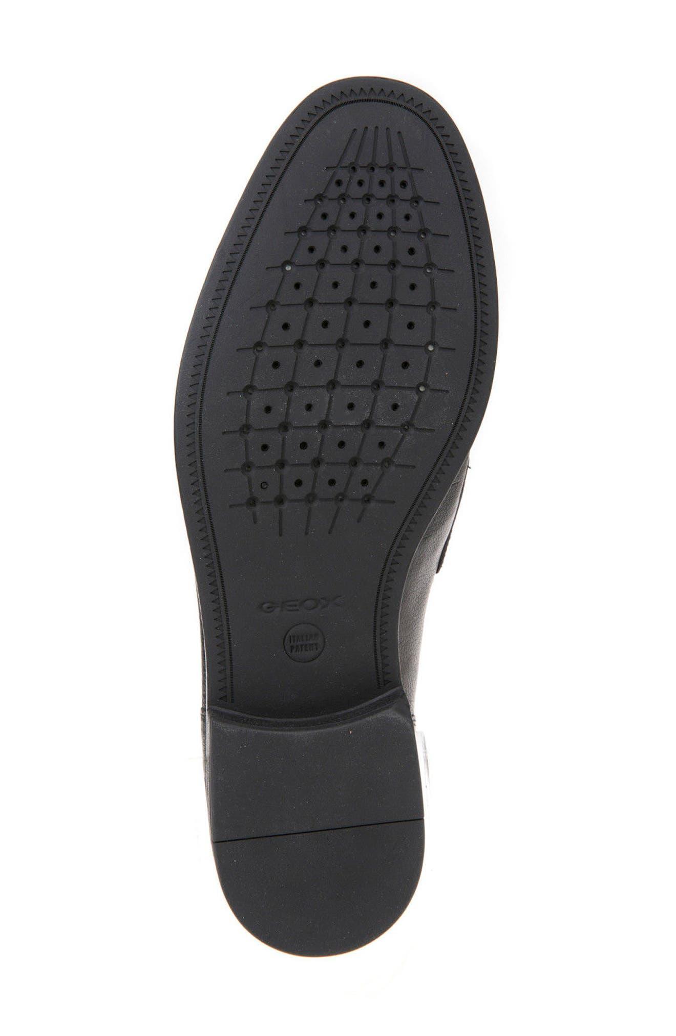 Bryceton 4 Tassel Loafer,                             Alternate thumbnail 6, color,                             Black Leather
