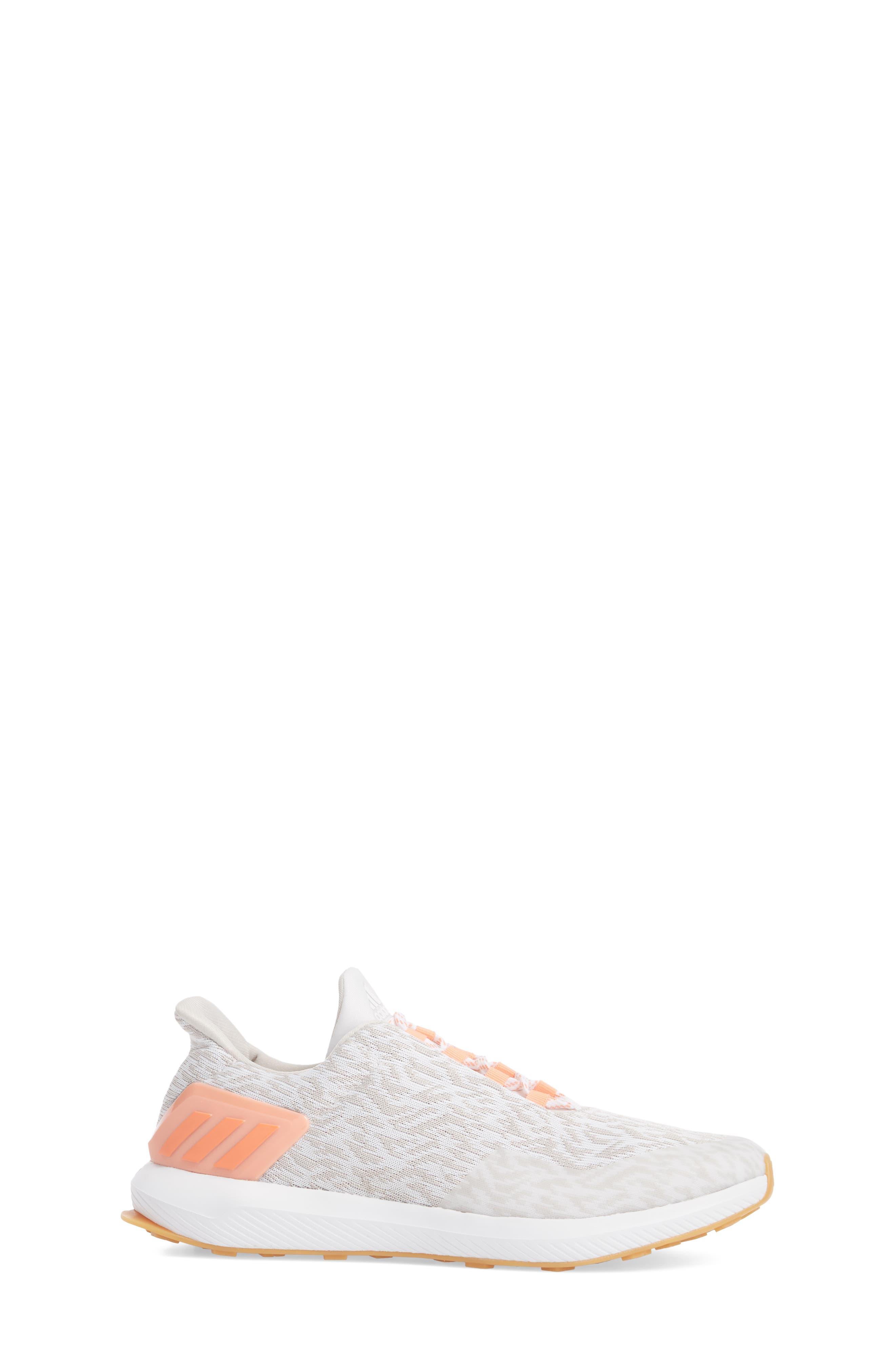 RapidaRun Uncaged Sneaker,                             Alternate thumbnail 3, color,                             White / Pearl/ Coral