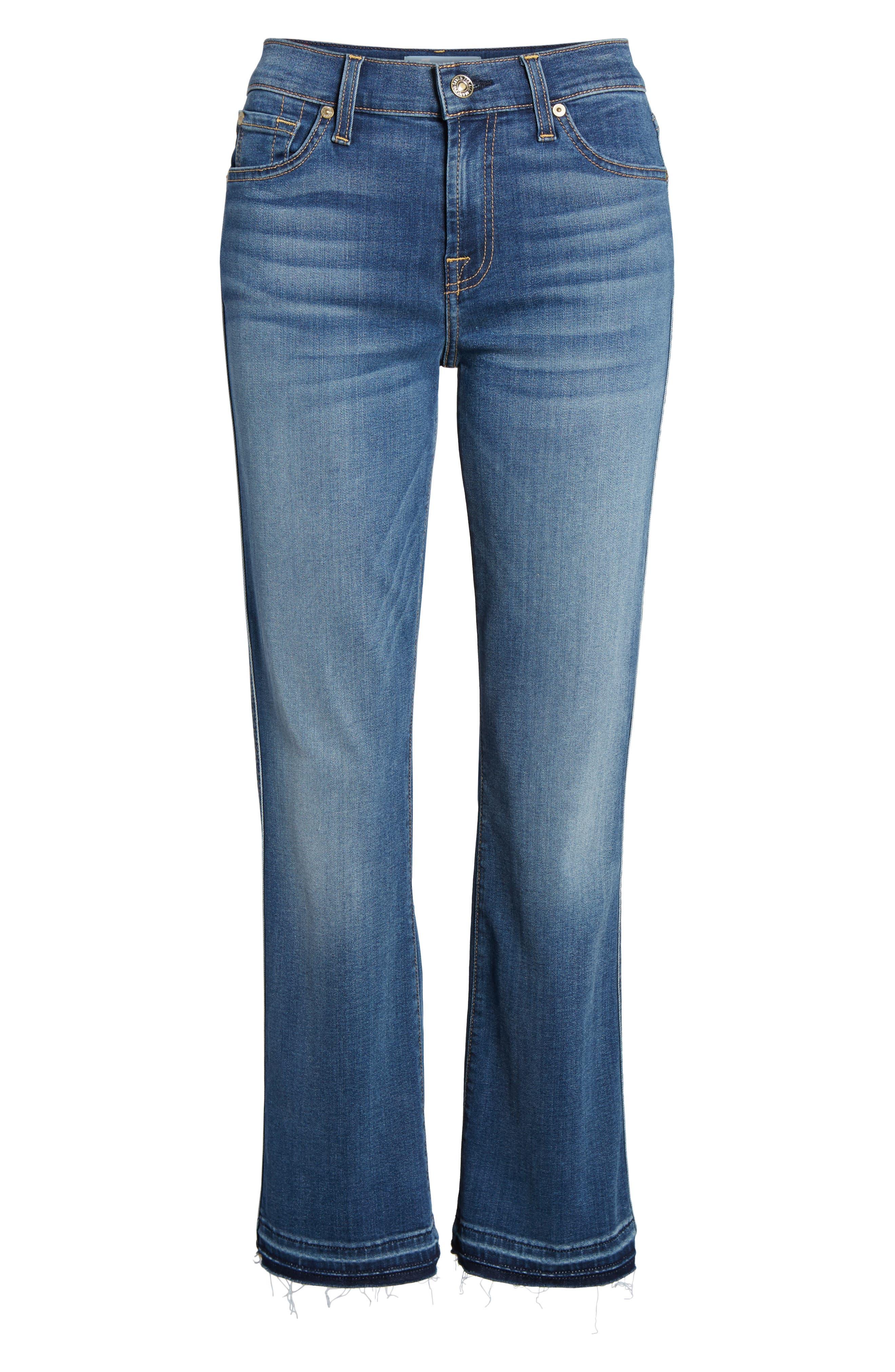 Alternate Image 6  - 7 For All Mankind® b(air) Crop Bootcut Jeans (Vintage Dusk)