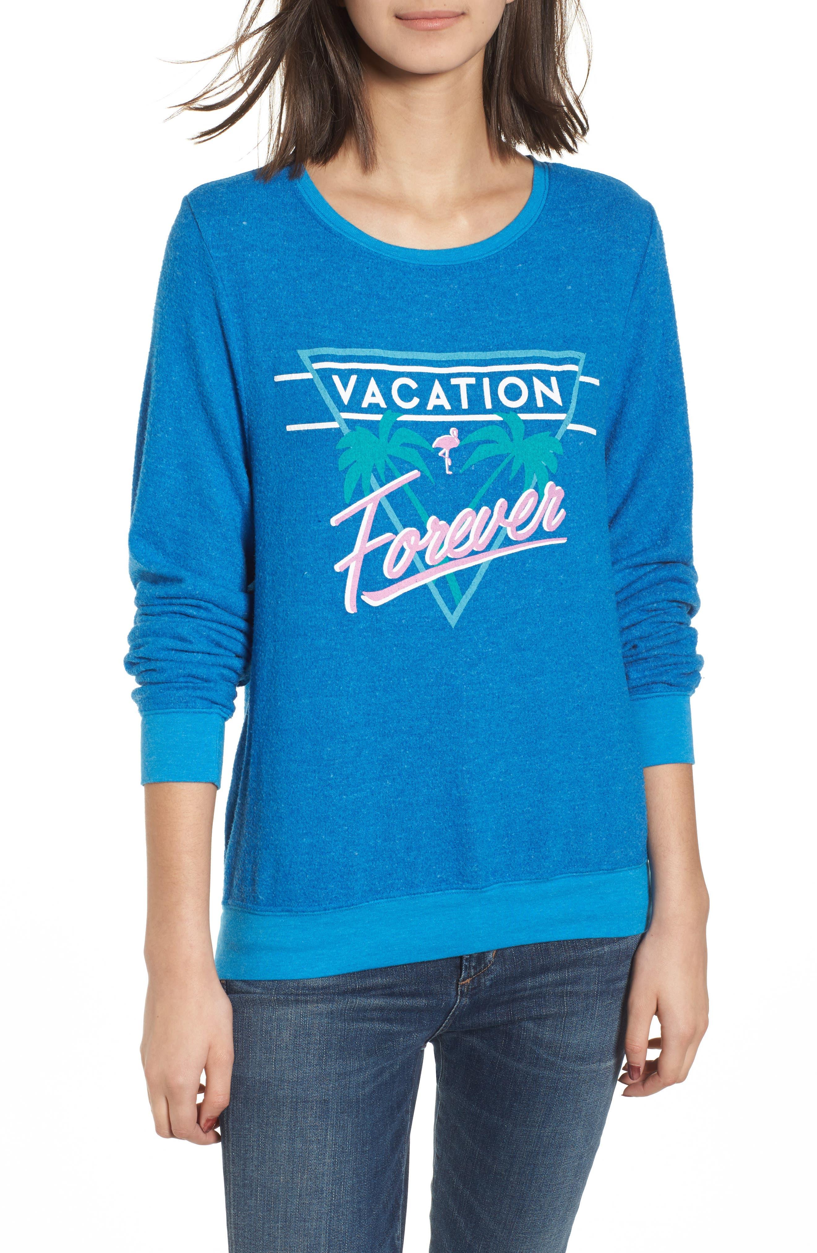 Vacation Forever Sweatshirt,                         Main,                         color, Cobalt