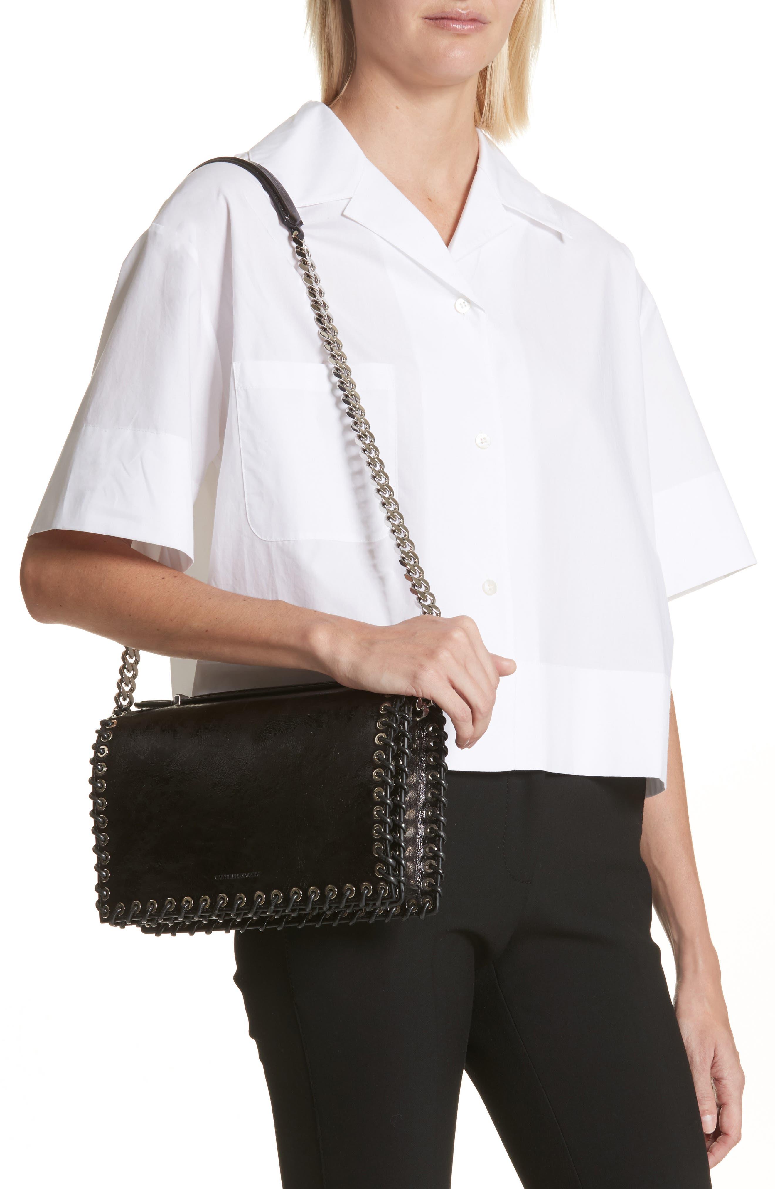 Alternate Image 2  - CALVIN KLEIN 205W39NYC Whipstitch Leather Shoulder Bag