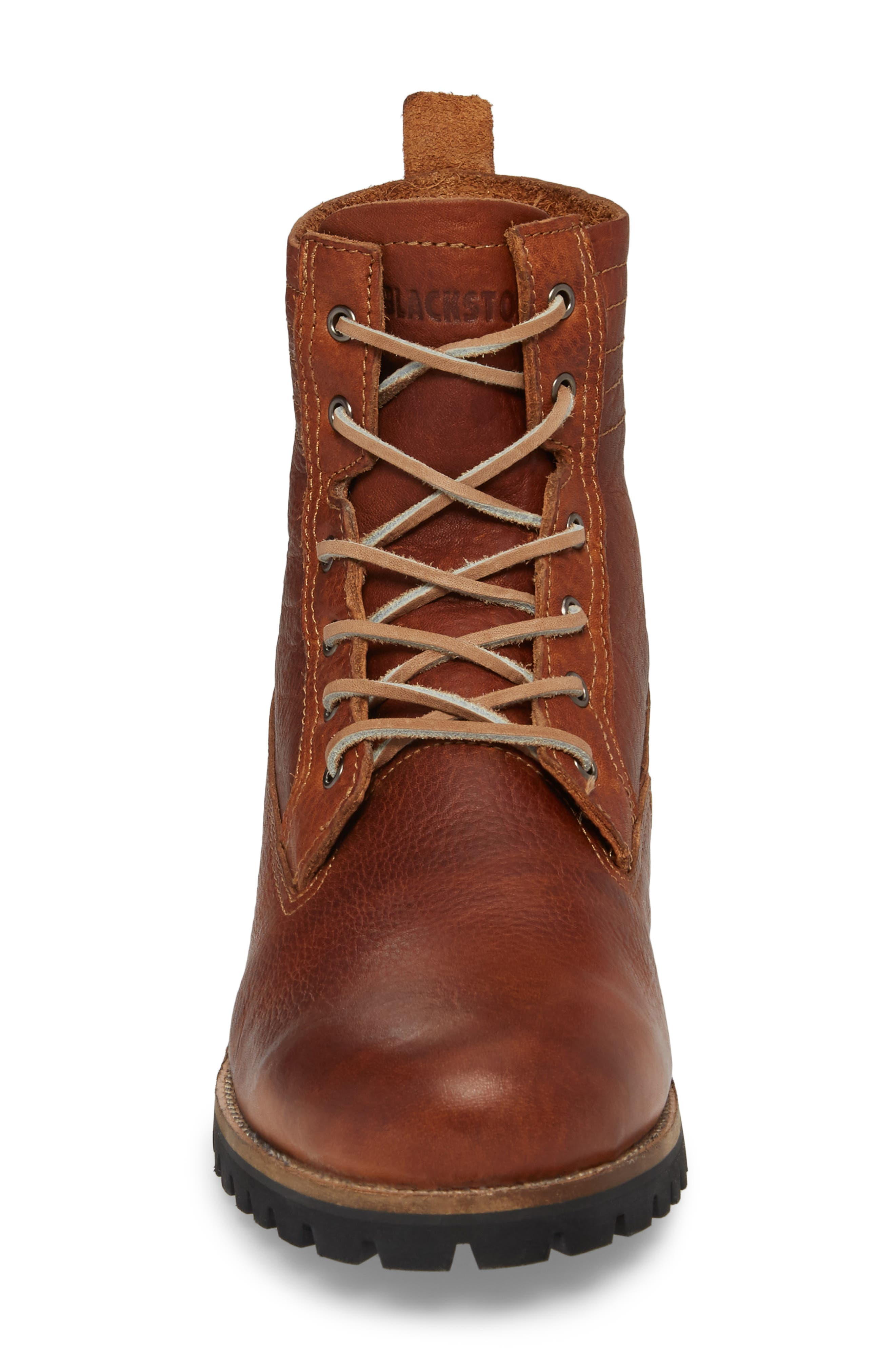 IM 12 Plain Toe Boot with Genuine Shearling,                             Alternate thumbnail 4, color,                             Cuoio Leather