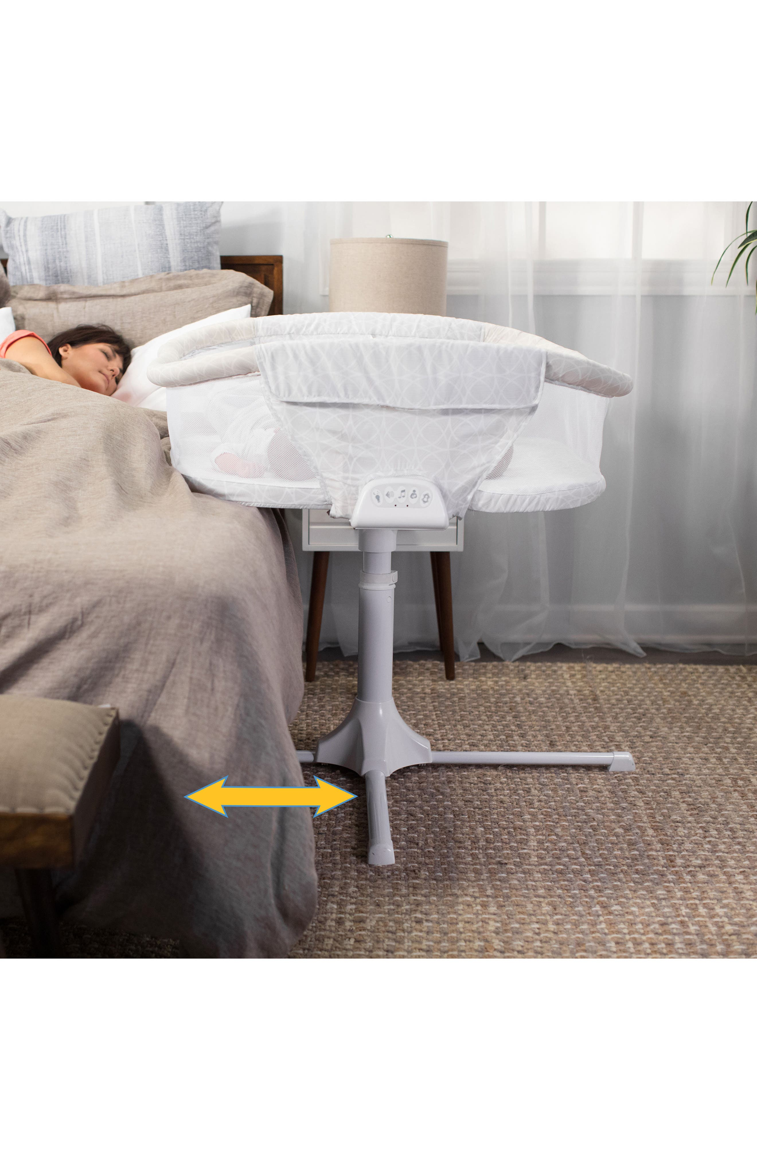 Bassinest Premiere Series Twin Bedside Swivel Sleeper,                             Alternate thumbnail 3, color,                             Sand Circles