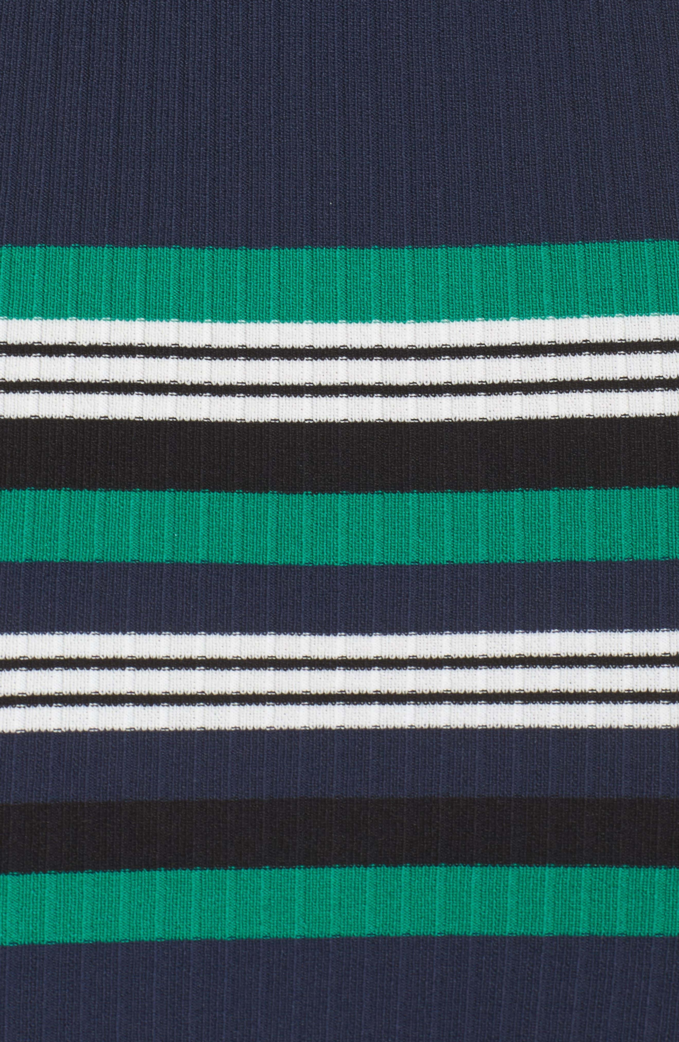 Callie Stripe Body-Con Dress,                             Alternate thumbnail 5, color,                             Navy