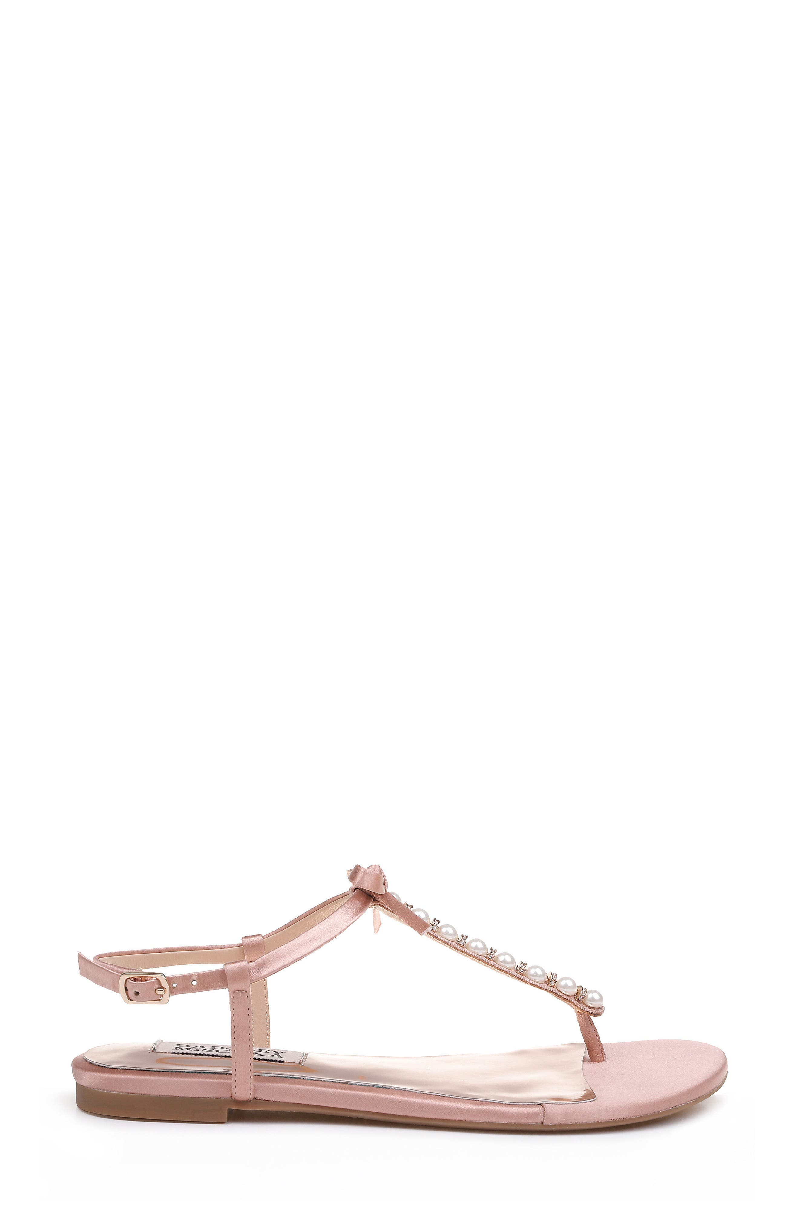Honey Embellished Sandal,                             Alternate thumbnail 3, color,                             Dark Pink Satin