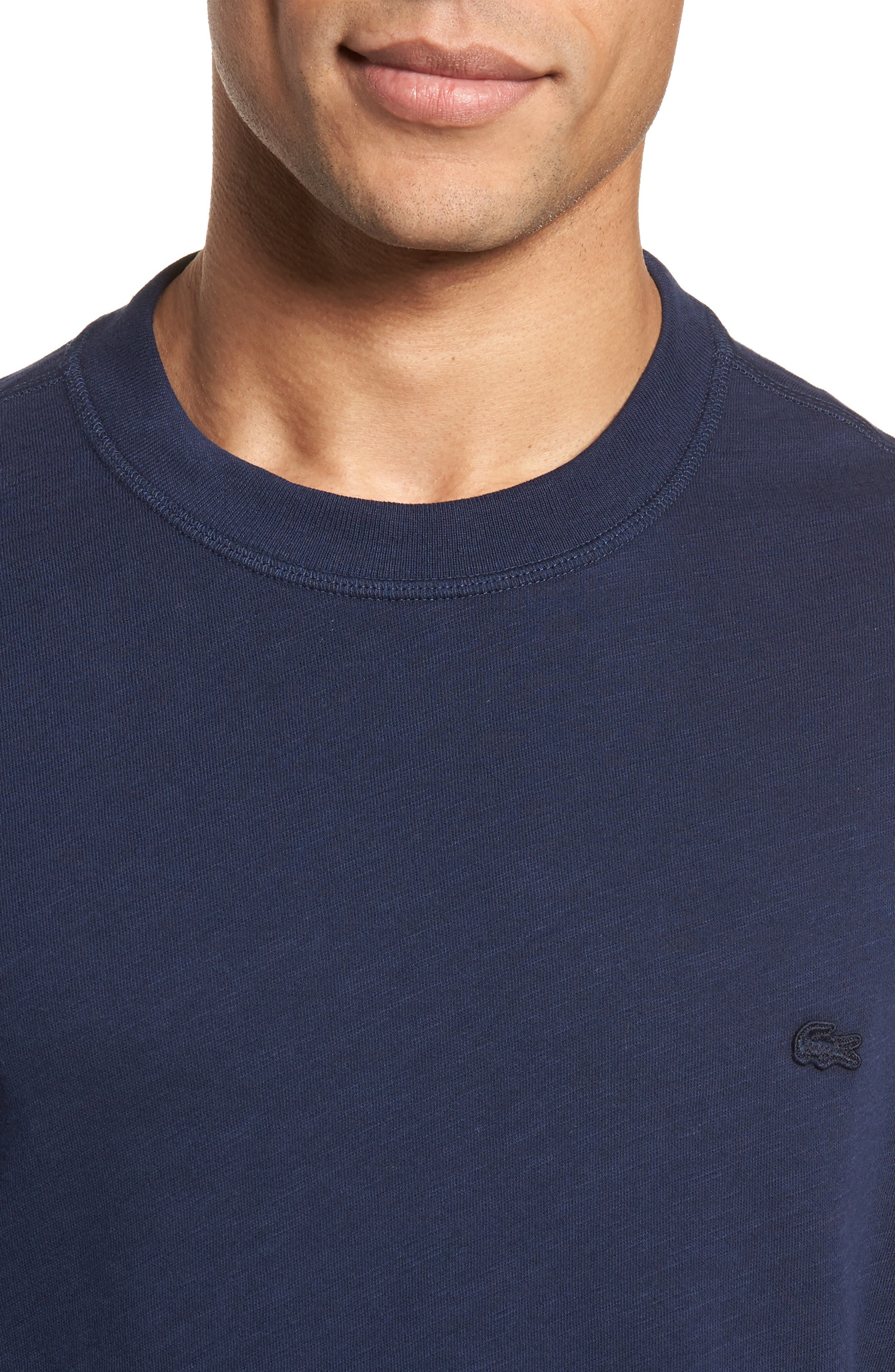 Slim Fit French Terry Sweatshirt,                             Alternate thumbnail 4, color,                             Navy Blue