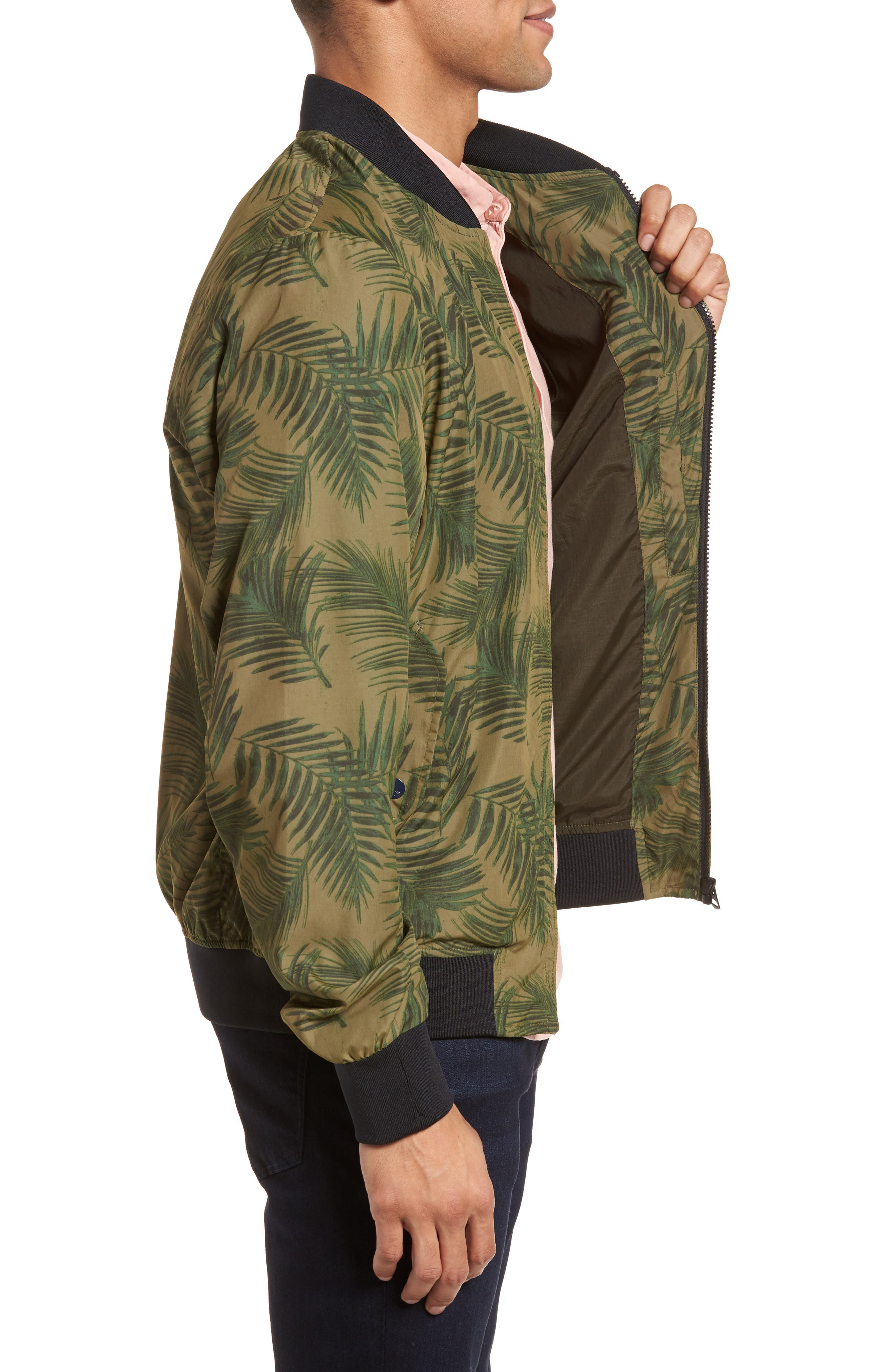 Bomber Jacket,                             Alternate thumbnail 3, color,                             Army