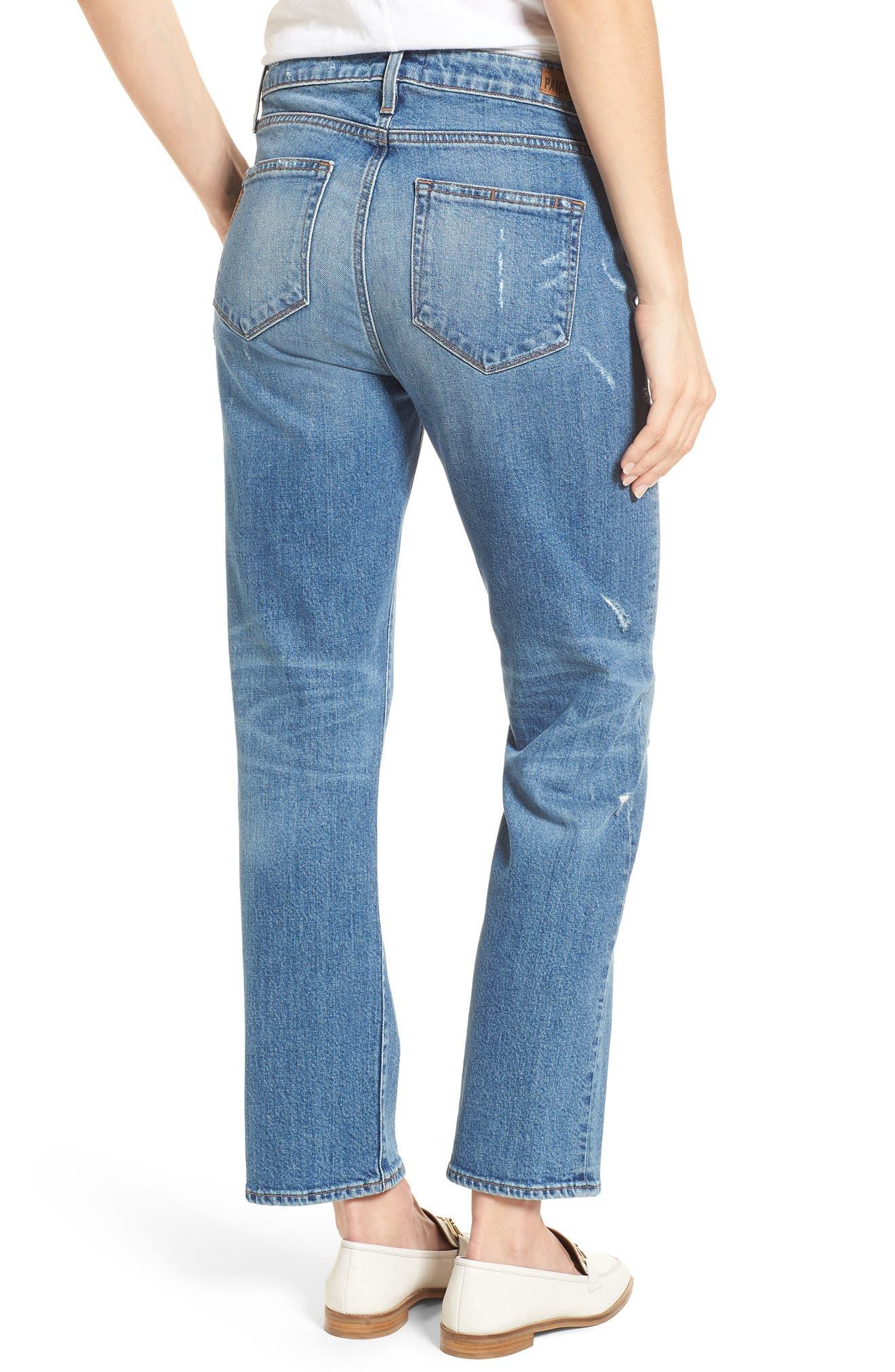 Transcend Vintage - Noella Straight Leg Jeans,                             Alternate thumbnail 3, color,                             Iola