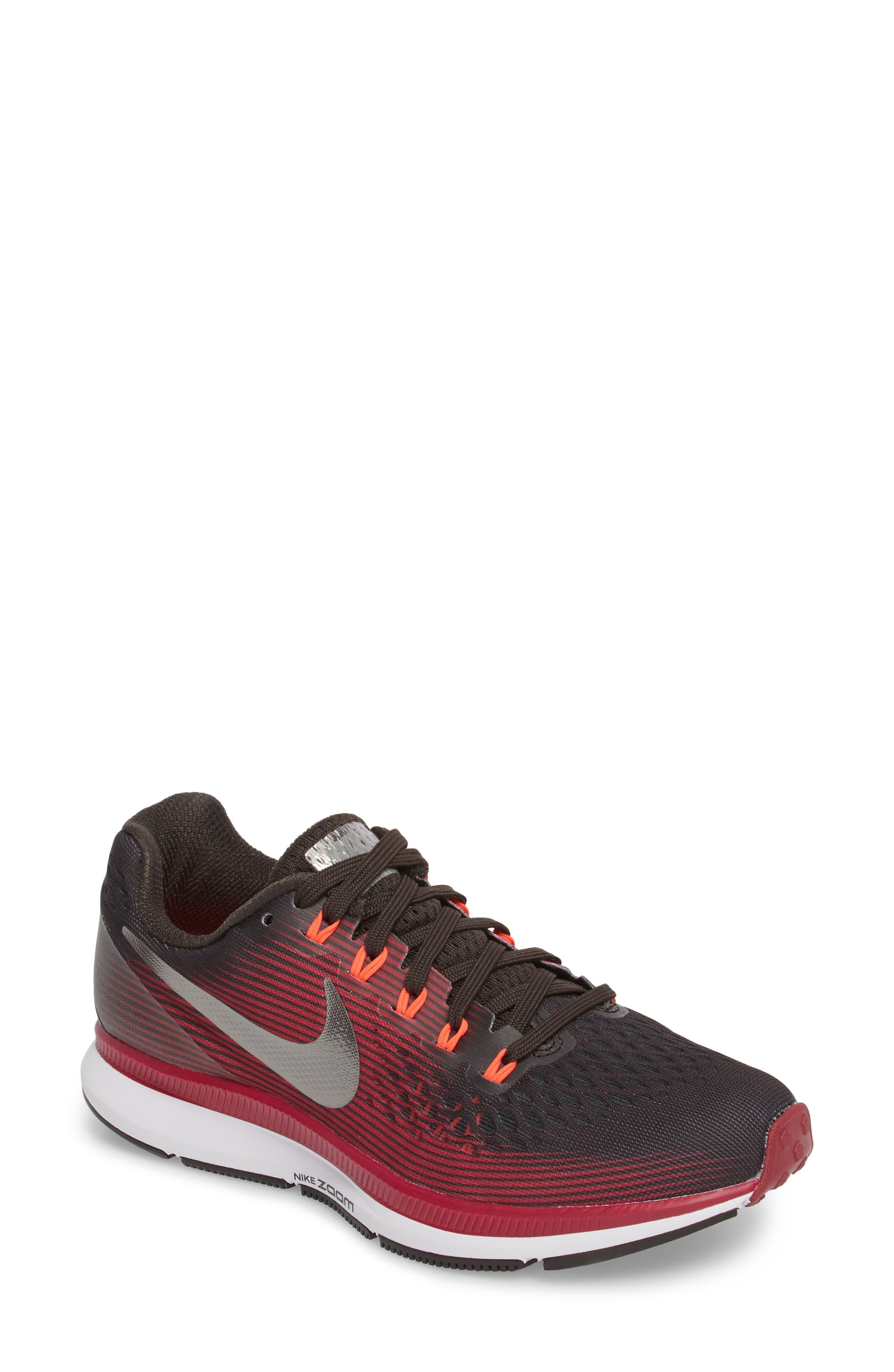 Air Zoom Pegasus 34 Gem Running Shoe,                         Main,                         color, Shadow Brown/ Pewter