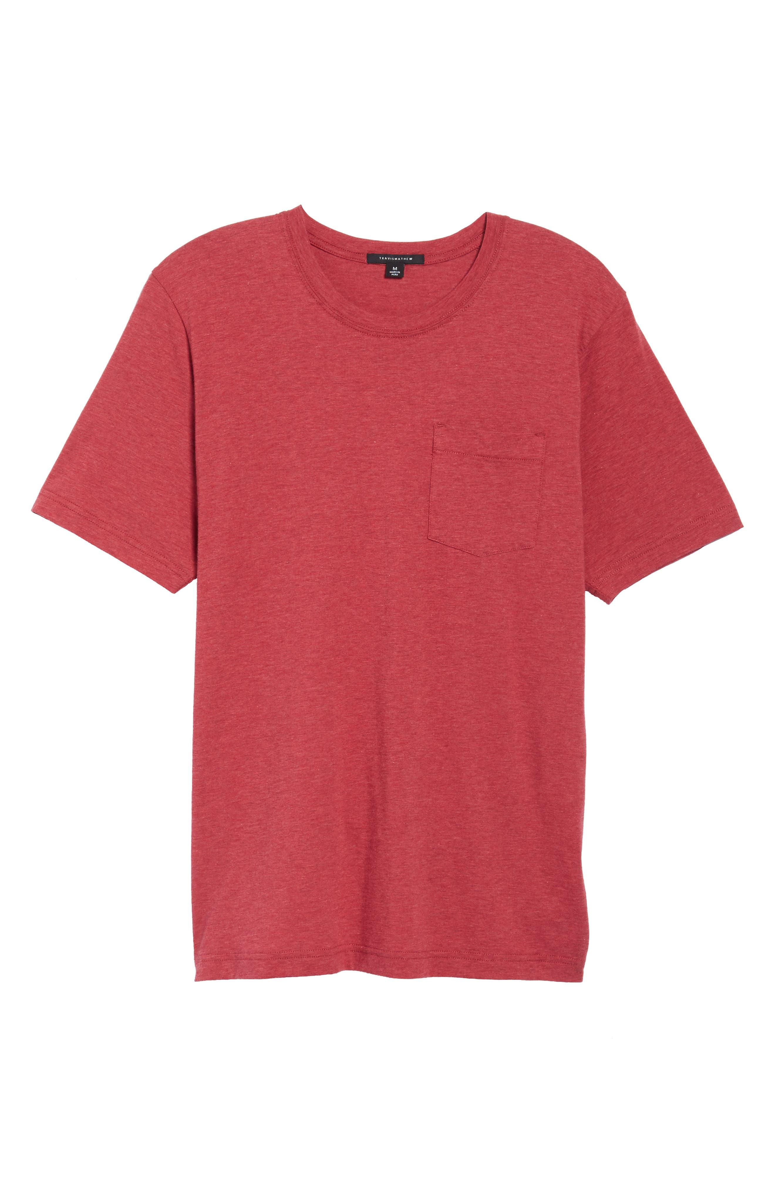Hedrick T-Shirt,                         Main,                         color, Heather Ox Blood