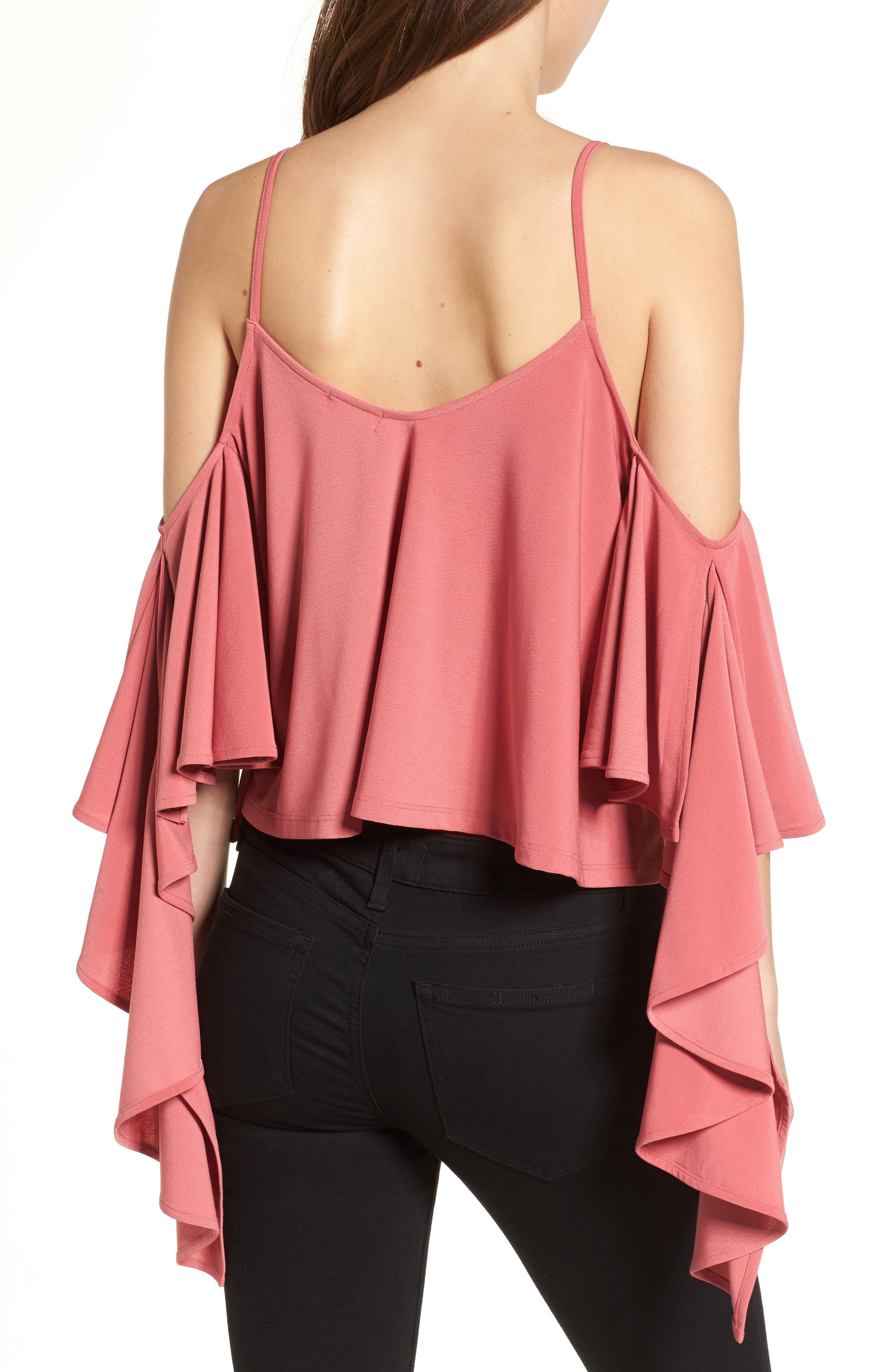 Ruffle Tank,                             Alternate thumbnail 2, color,                             Red Baroque