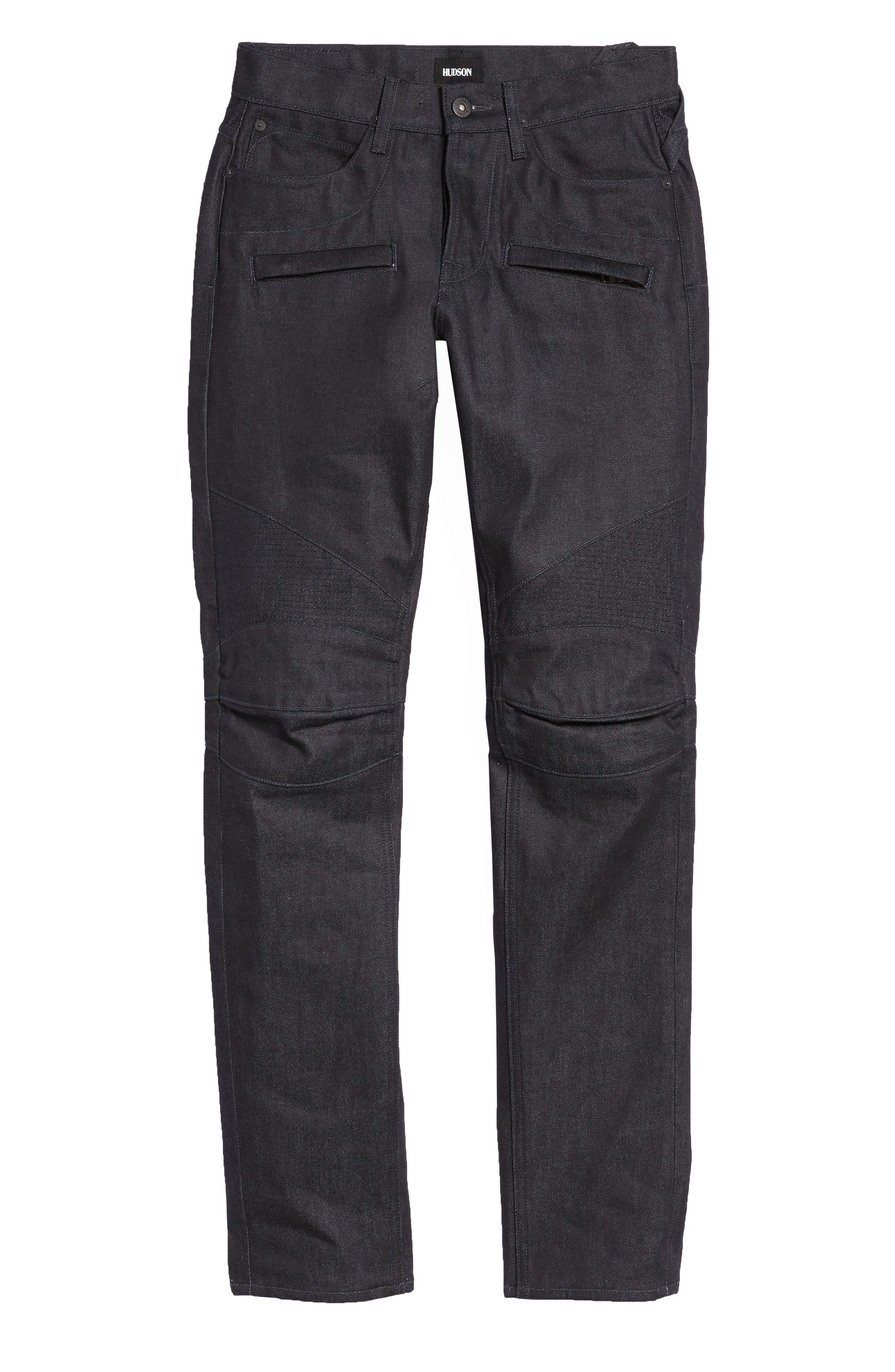 Blinder Biker Skinny Fit Jeans,                             Alternate thumbnail 6, color,                             Raw