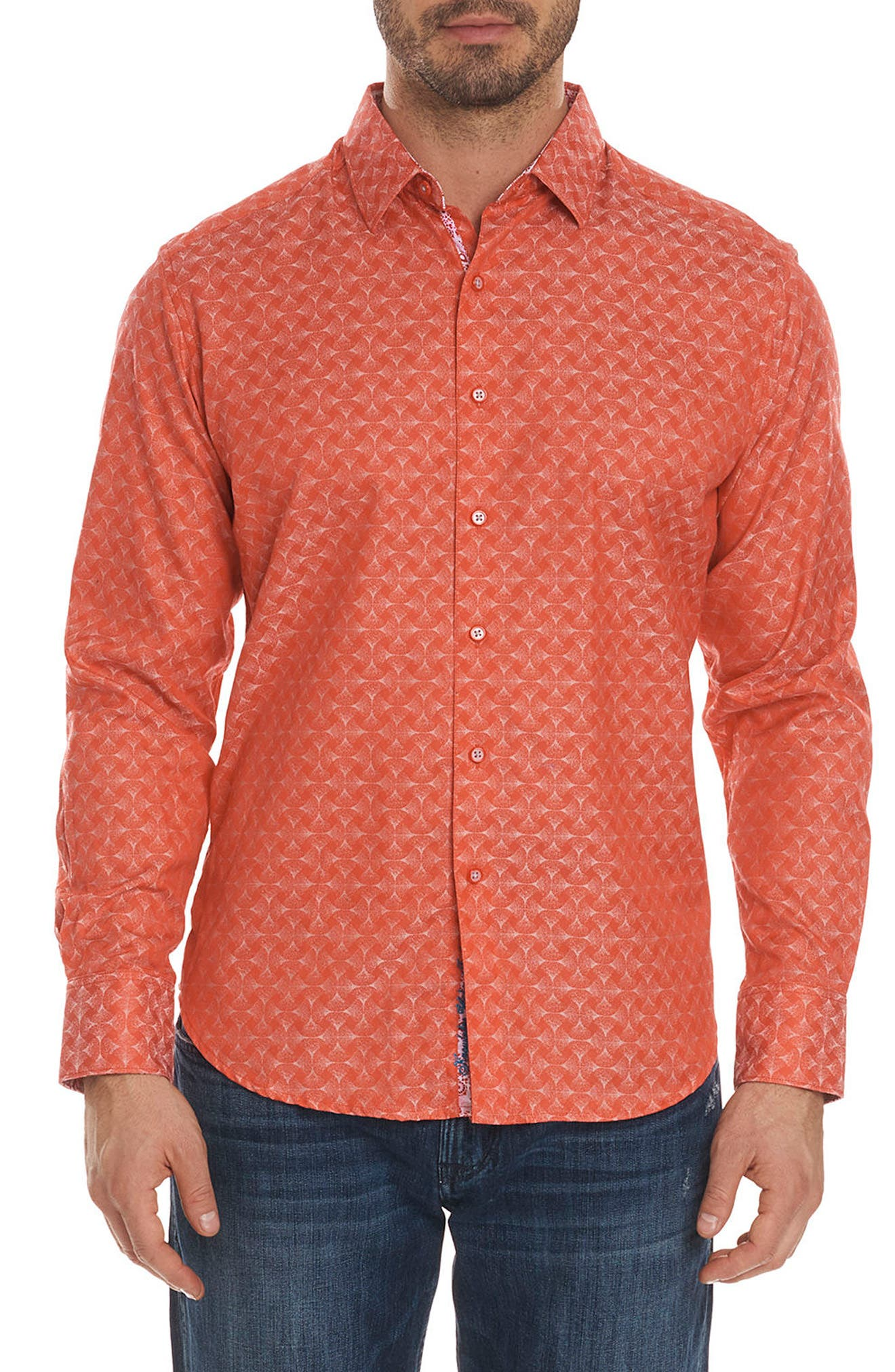 Robert Graham Diamante Classic Fit Print Sport Shirt