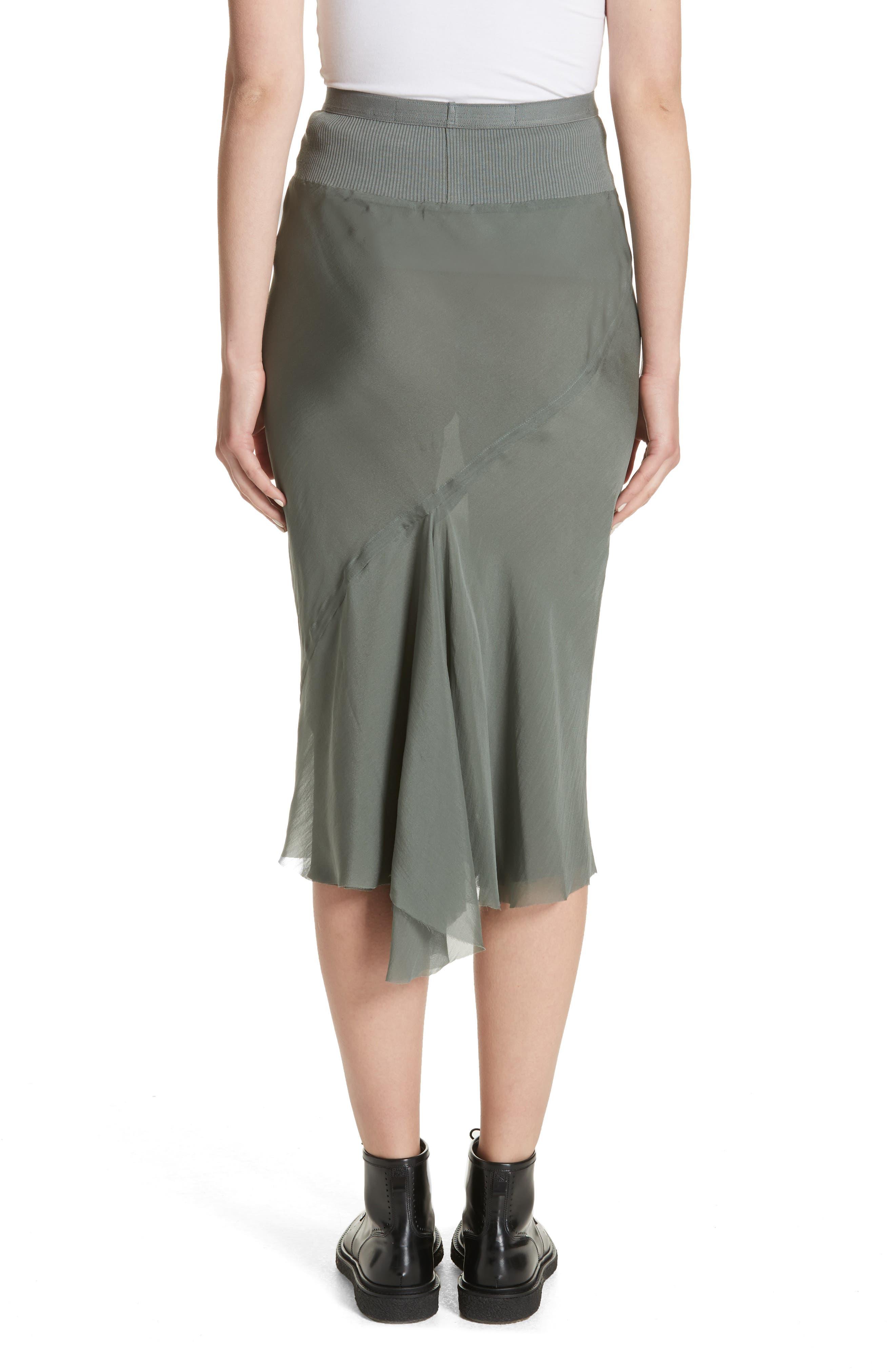 Silk Chiffon Midi Skirt,                             Alternate thumbnail 2, color,                             Sage