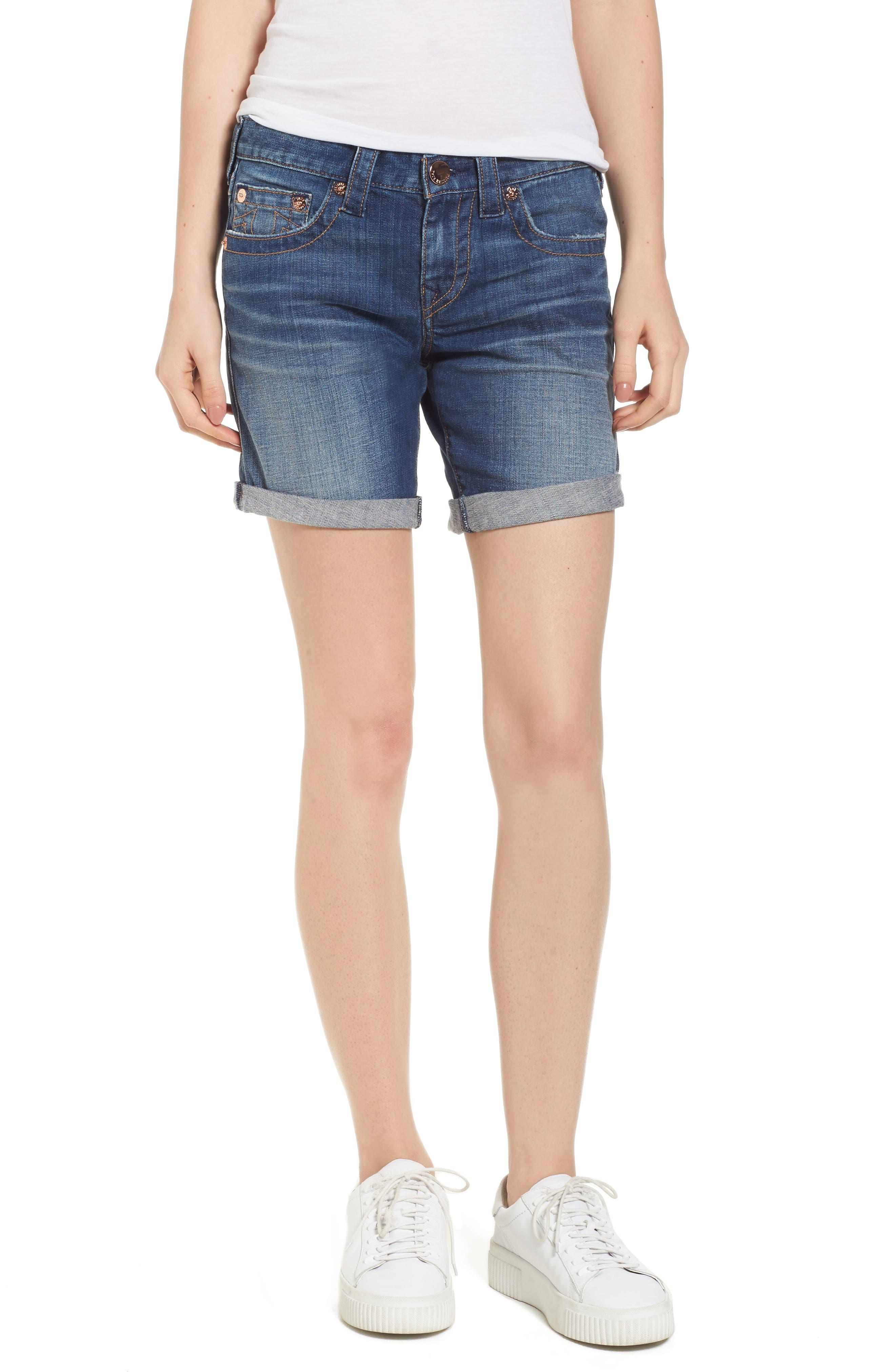 Jayde Shorts,                         Main,                         color, Hardware Blue