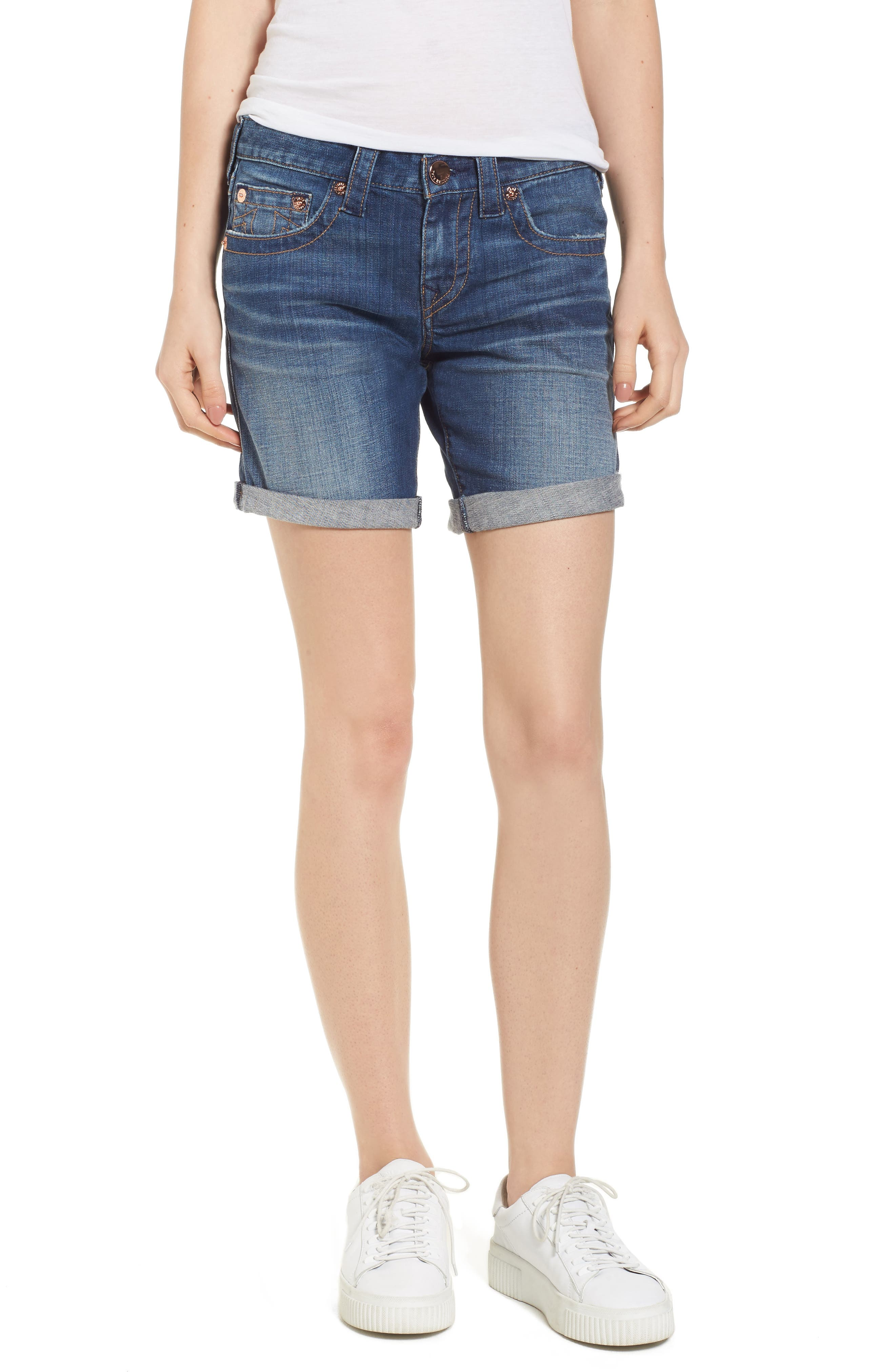 True Religion Brand Jeans Jayde Shorts (Hardware Blue)