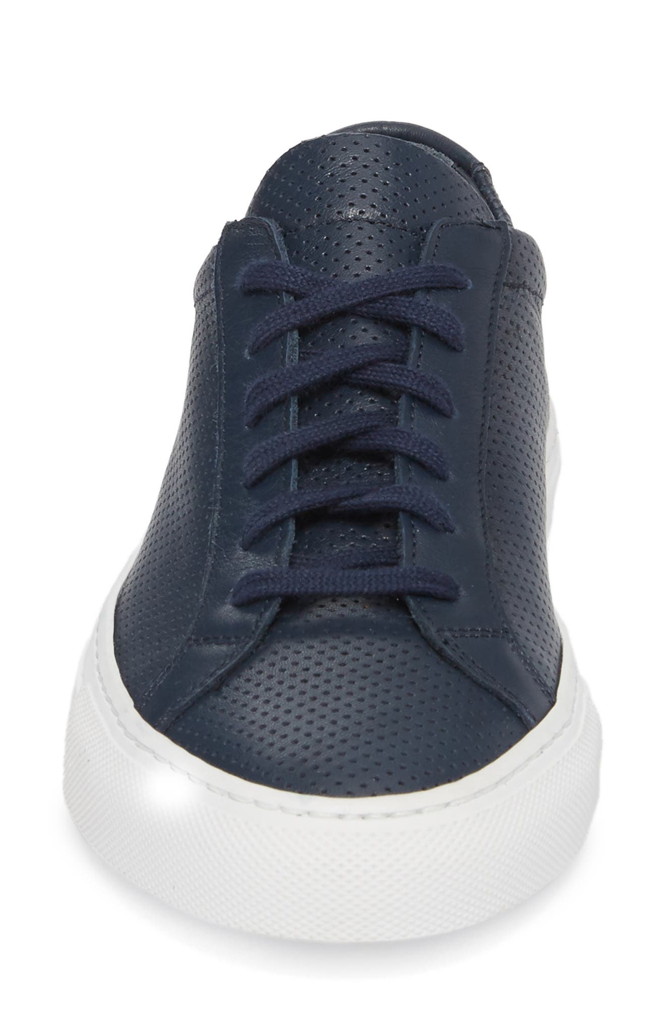 Original Achilles Perforated Low Sneaker,                             Alternate thumbnail 4, color,                             Navy
