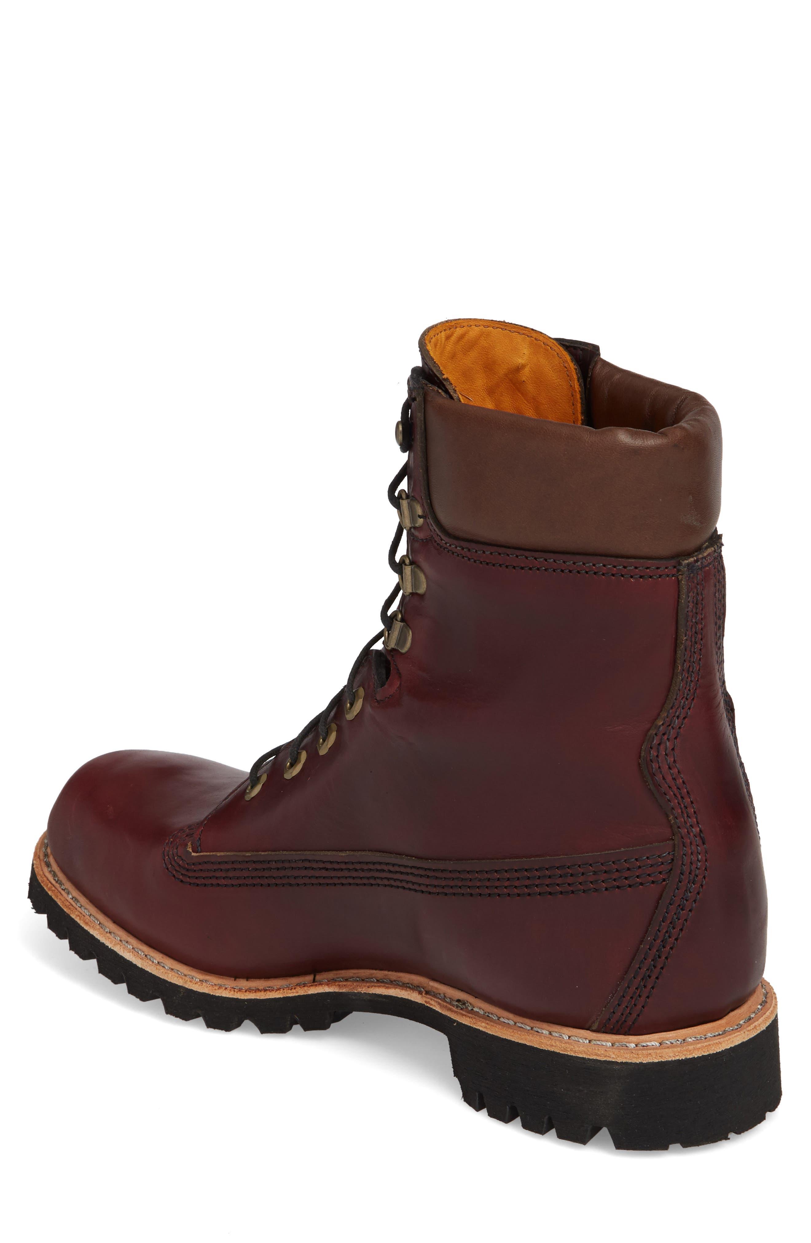 Plain Toe Boot,                             Alternate thumbnail 2, color,                             Burgundy Chromexel Horween