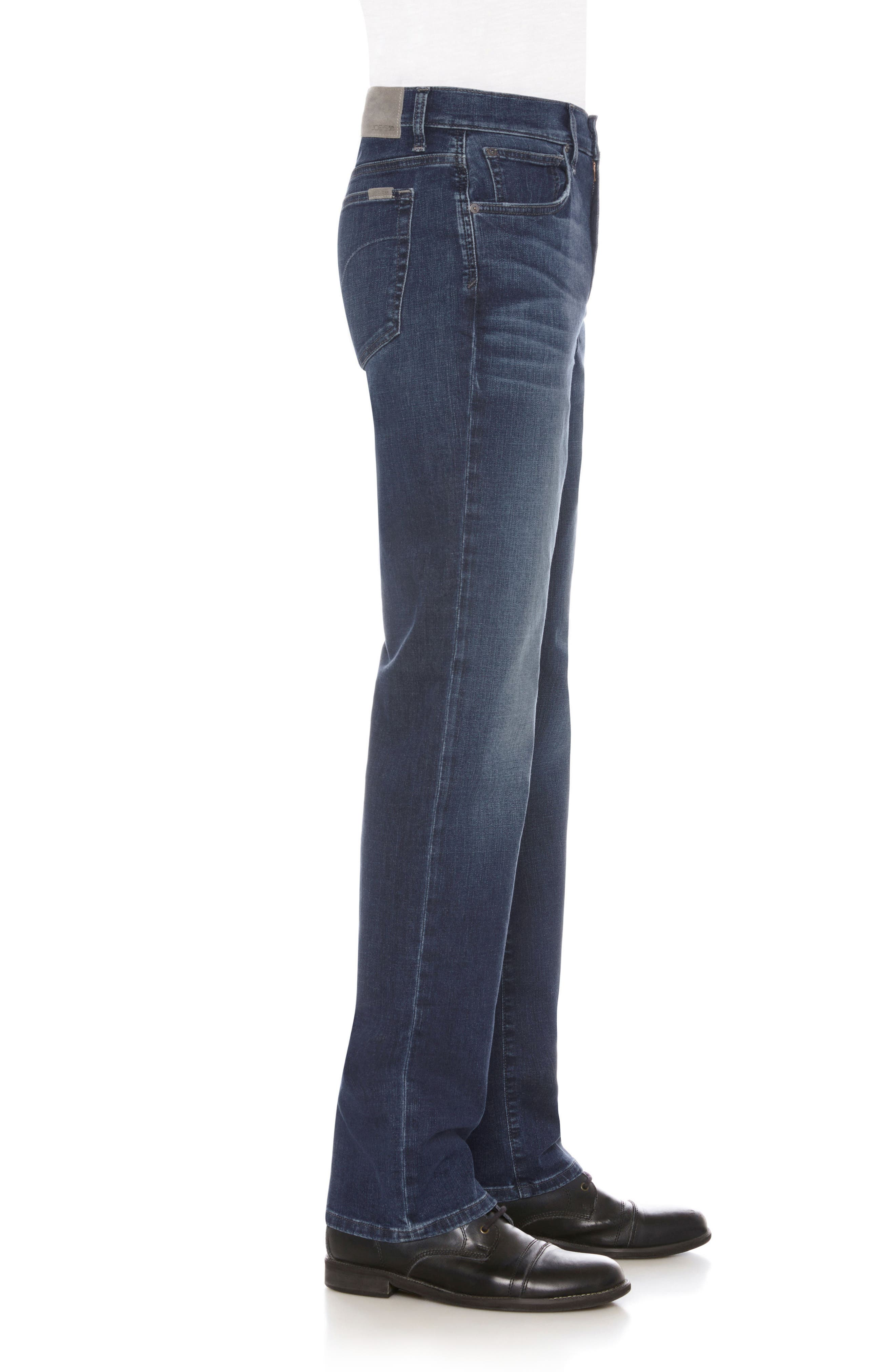 Classic Straight Fit Jeans,                             Alternate thumbnail 3, color,                             Belding