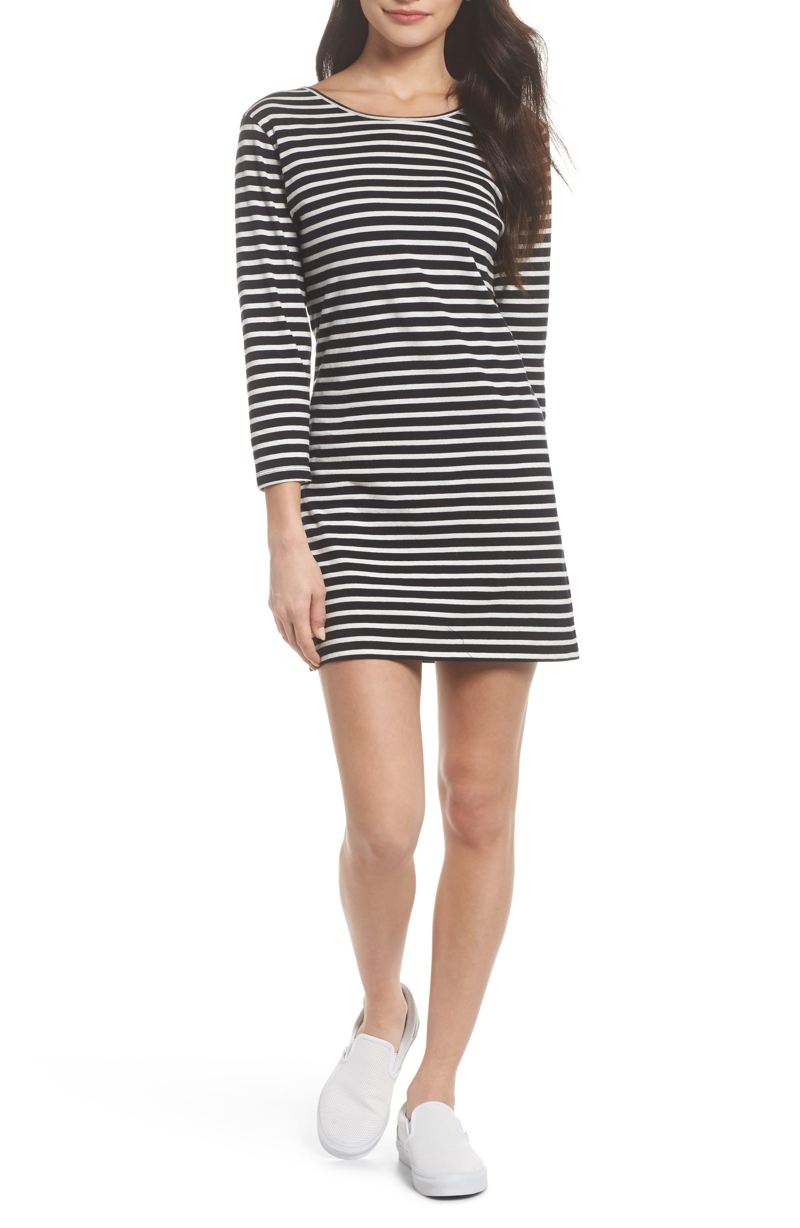 Knot Sisters Costa Stripe T-Shirt Dress