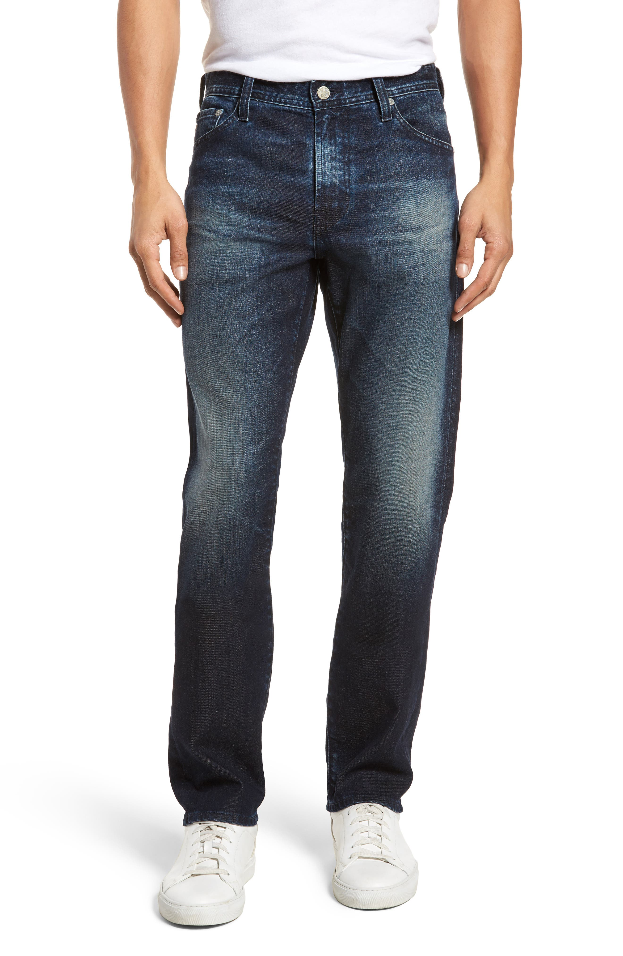 Everett Slim Straight Fit Jeans,                         Main,                         color, 3 Years Trentwood