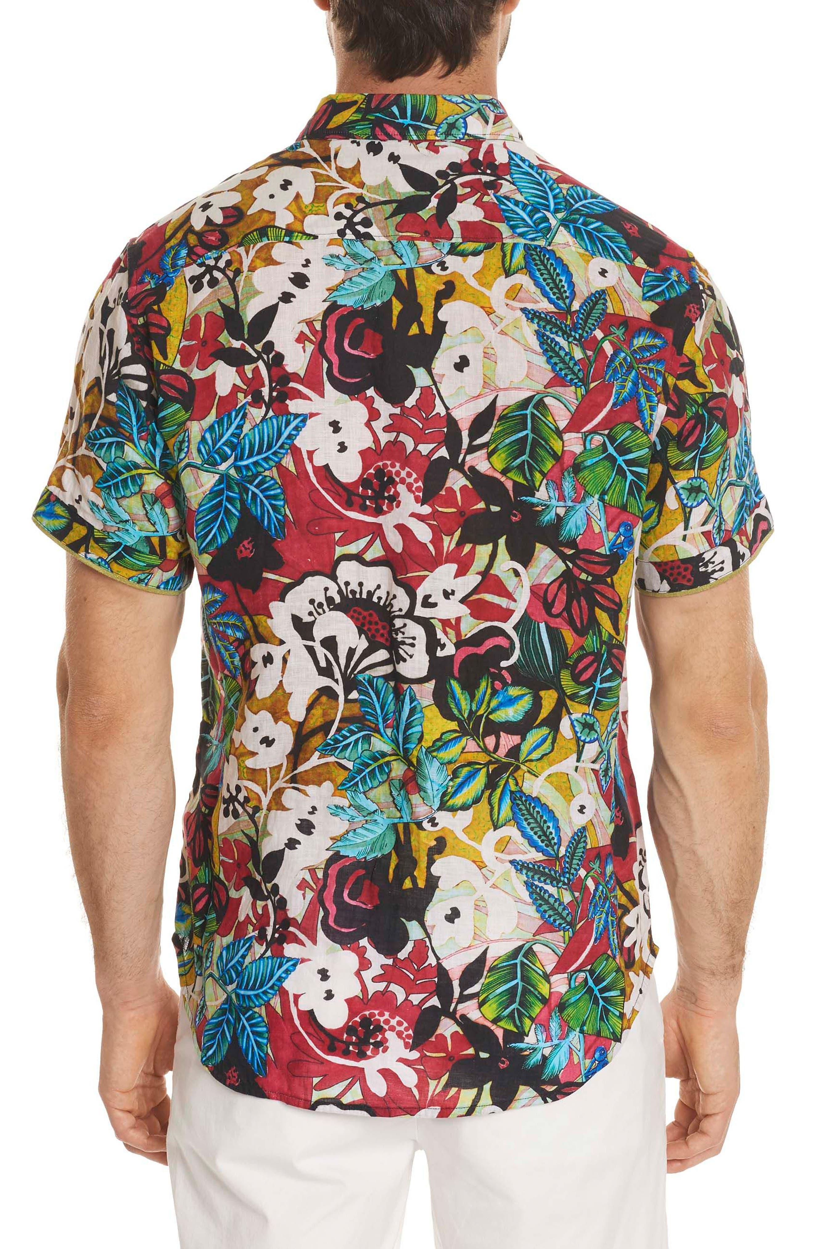 Havana Linen Sport Shirt,                             Alternate thumbnail 2, color,                             Multi