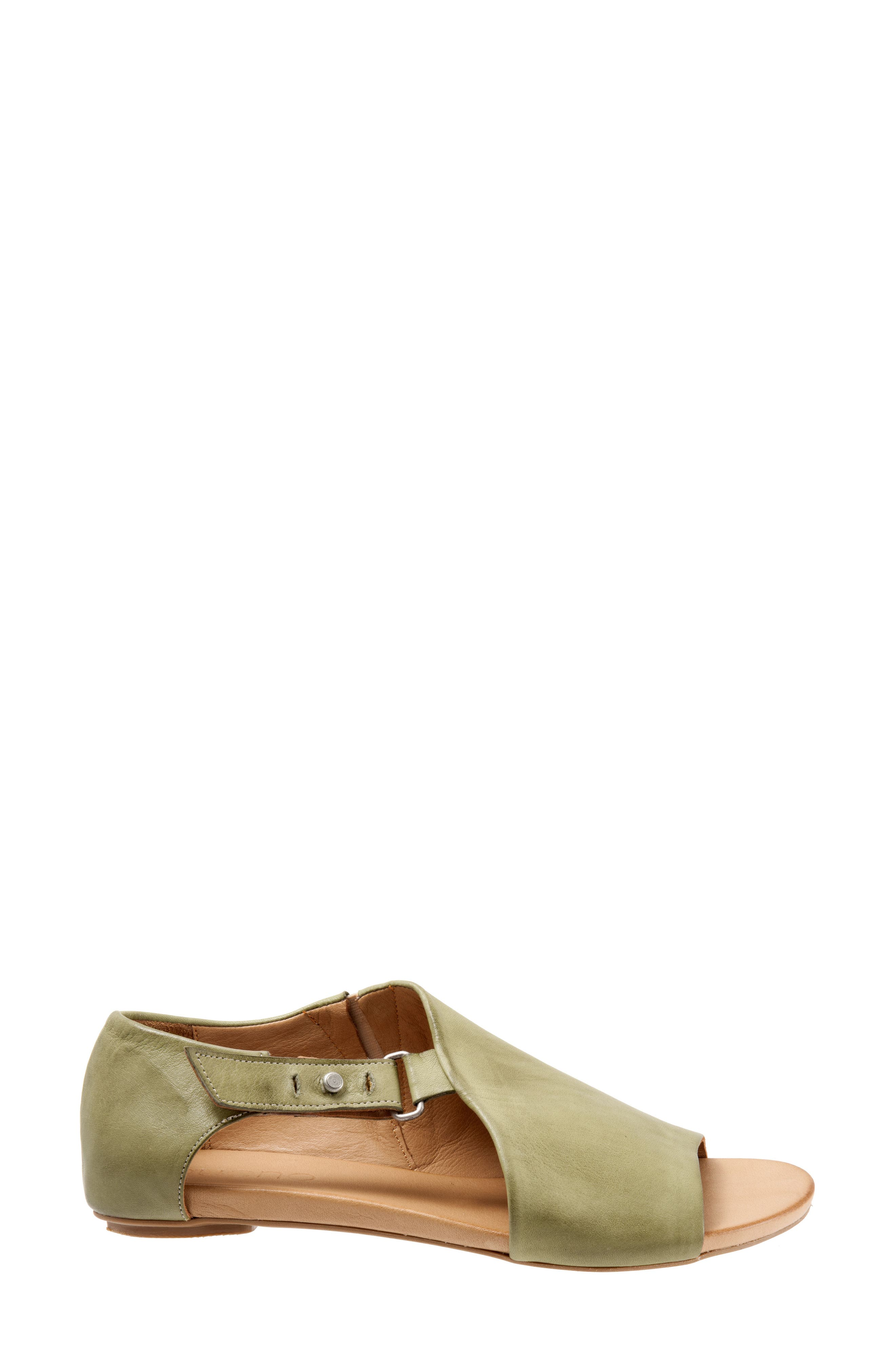 Kale Sandal,                             Alternate thumbnail 3, color,                             Moss Leather