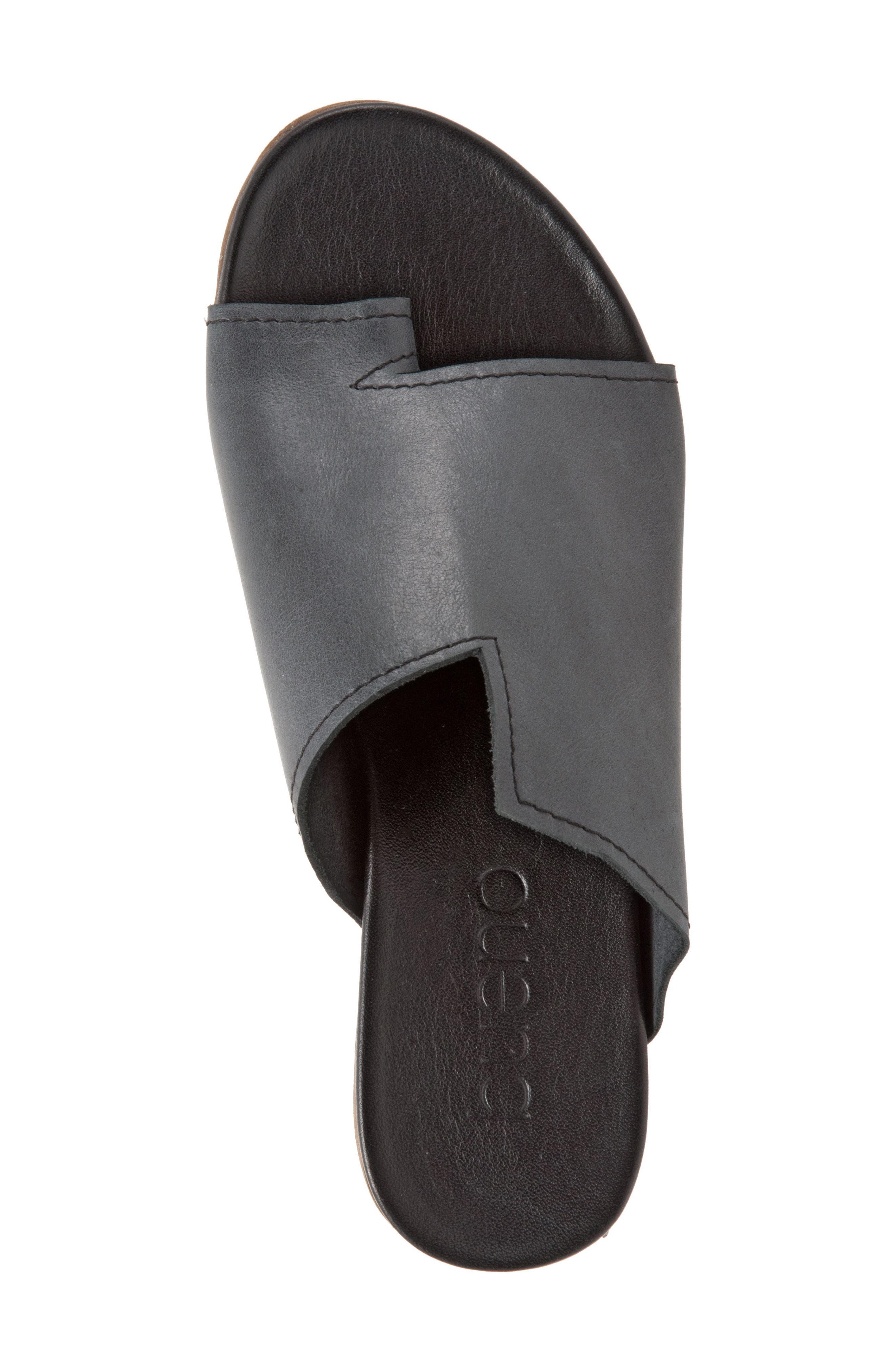 Tulla Sandal,                             Alternate thumbnail 5, color,                             Black Leather