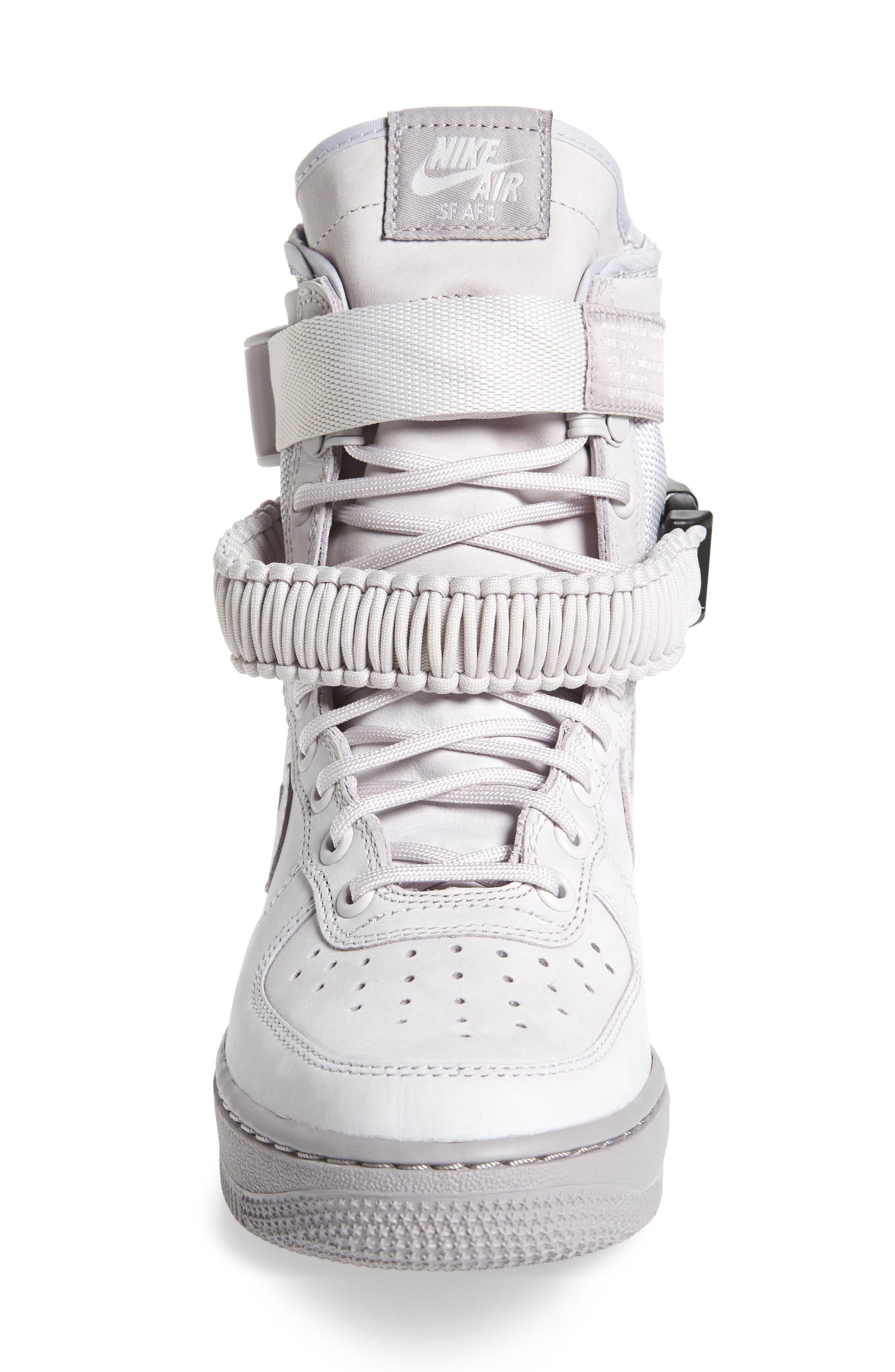 SF Air Force 1 High Top Sneaker,                             Alternate thumbnail 4, color,                             Vast Grey/ Vast Grey