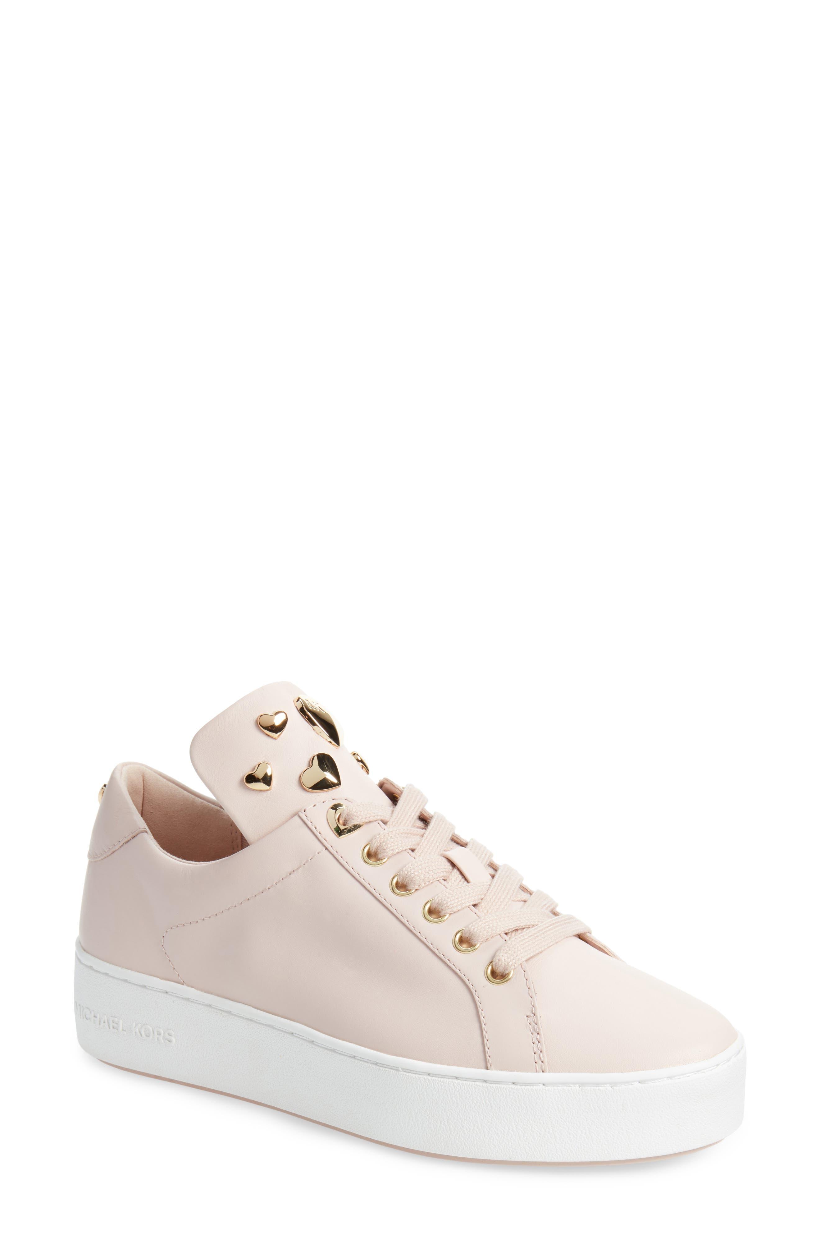 Mindy Platform Sneaker,                             Main thumbnail 1, color,                             Soft Pink Studs