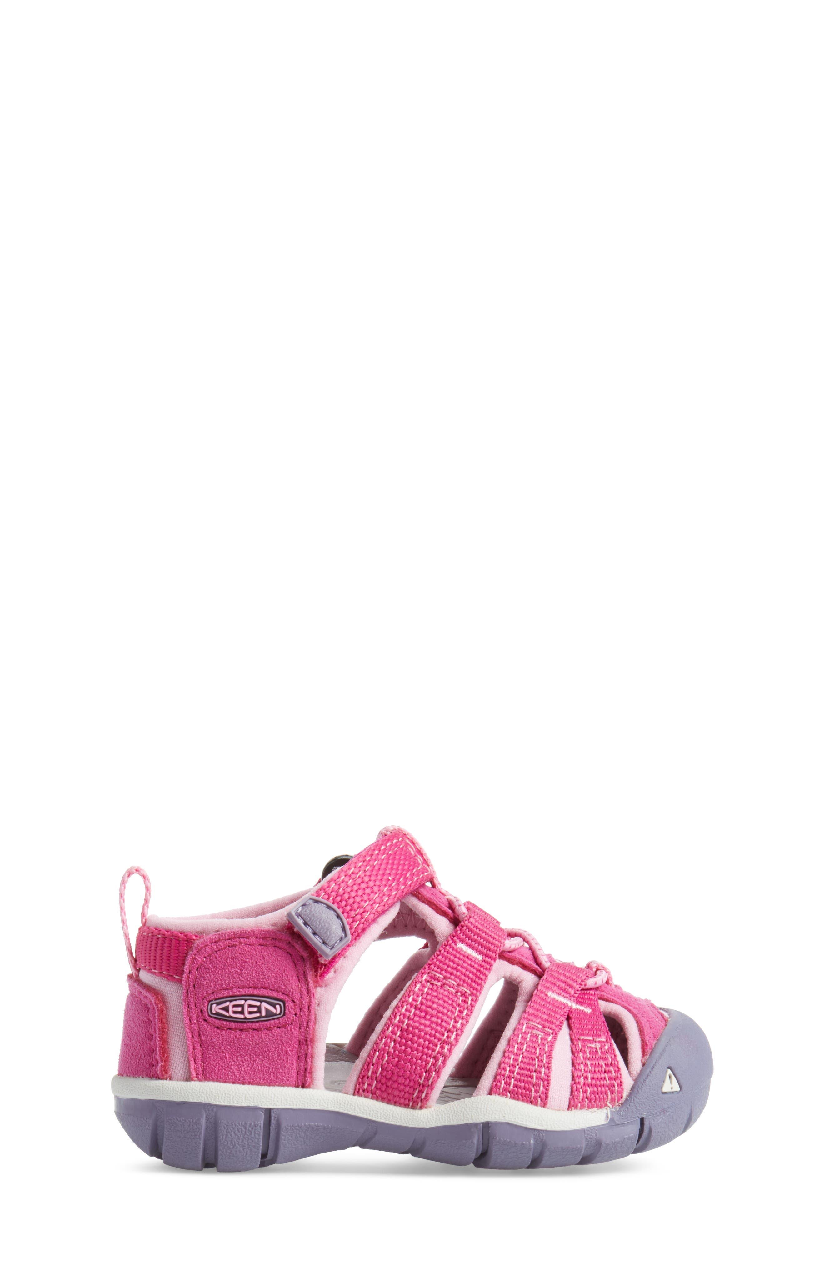 'Seacamp II' Water Friendly Sandal,                             Alternate thumbnail 3, color,                             Very Berry/ Lilac Chiffon
