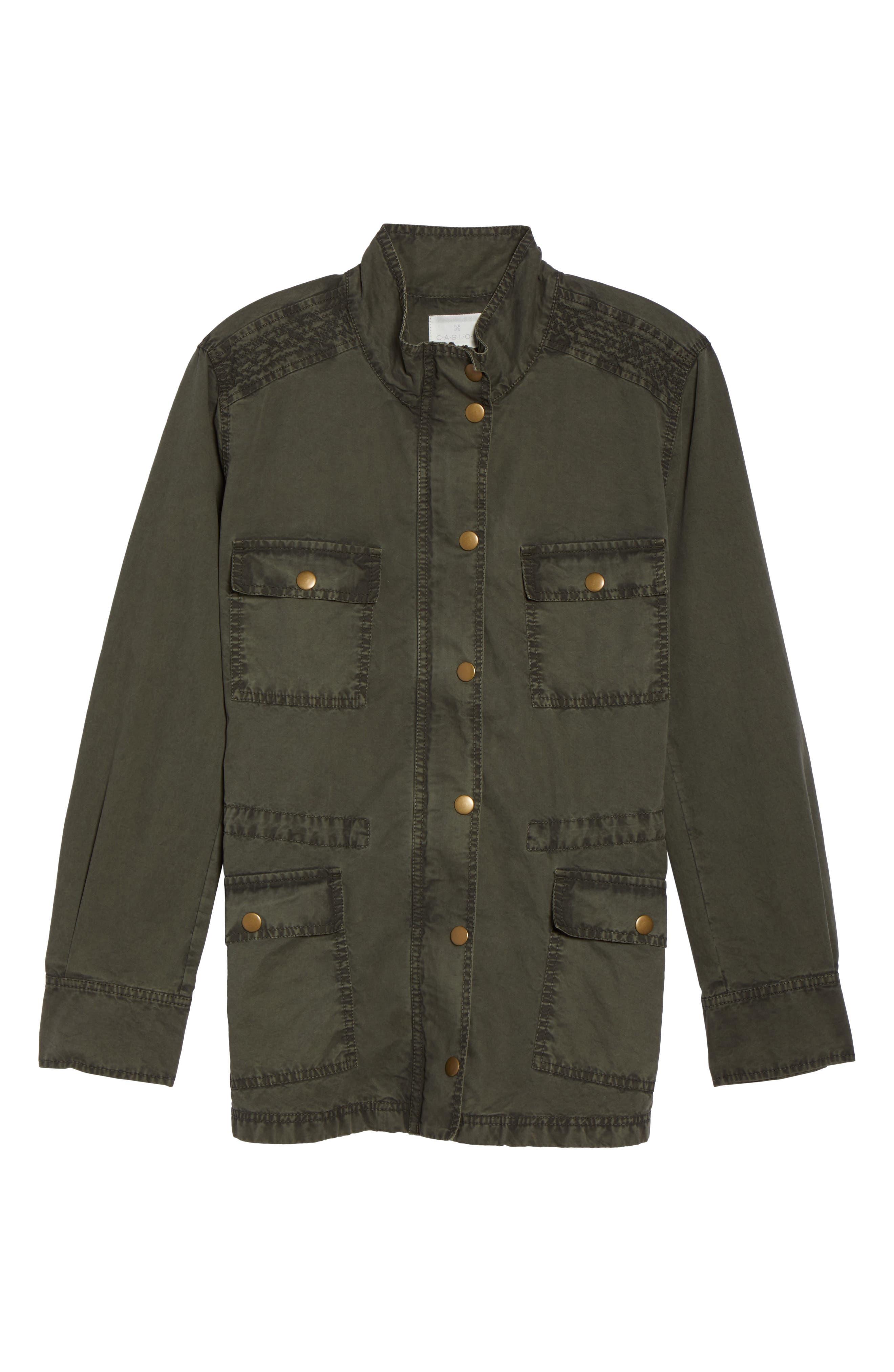 Utility Jacket,                             Alternate thumbnail 6, color,                             Olive Sarma