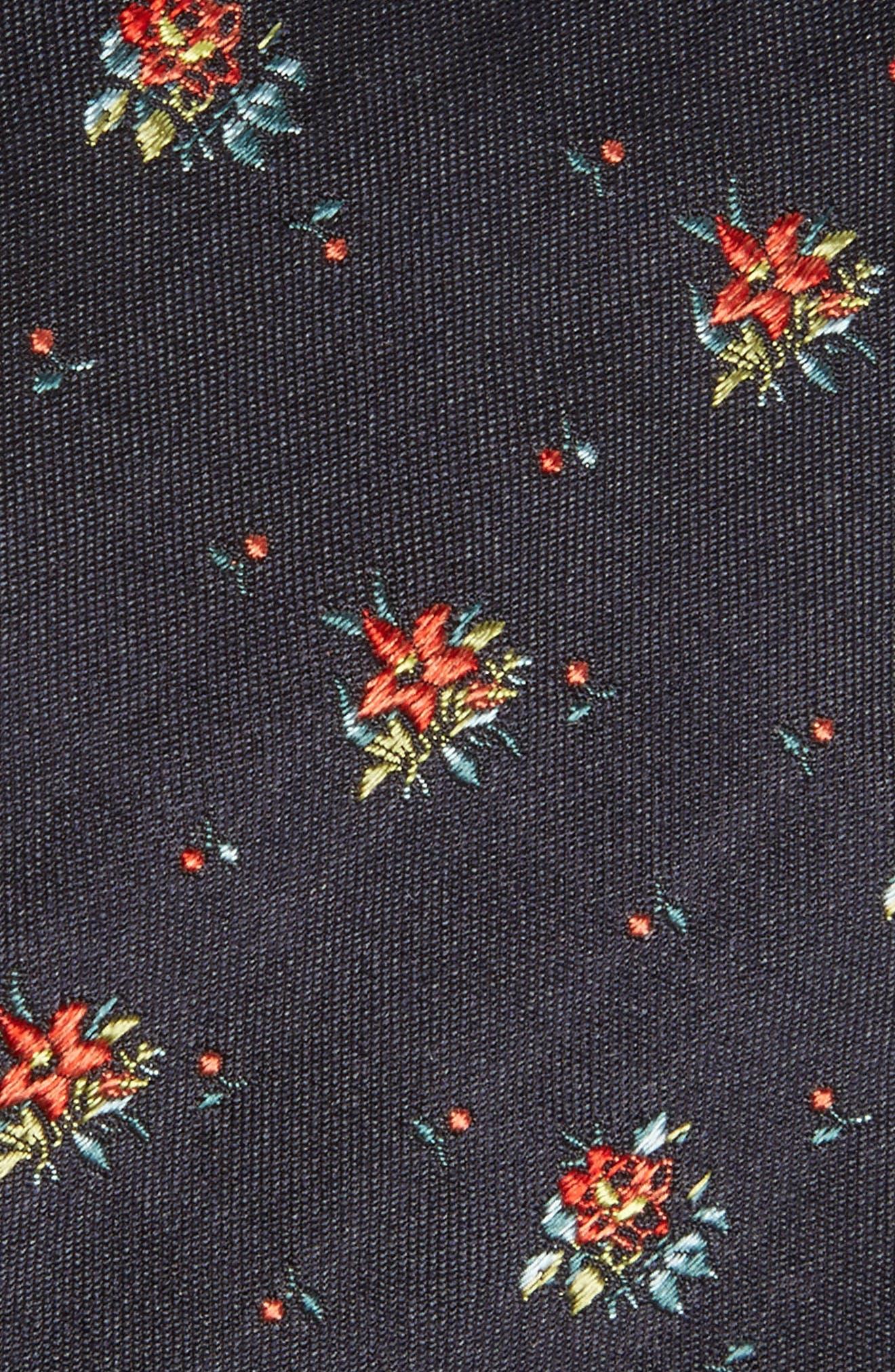 Floral Silk Tie,                             Alternate thumbnail 2, color,                             Navy