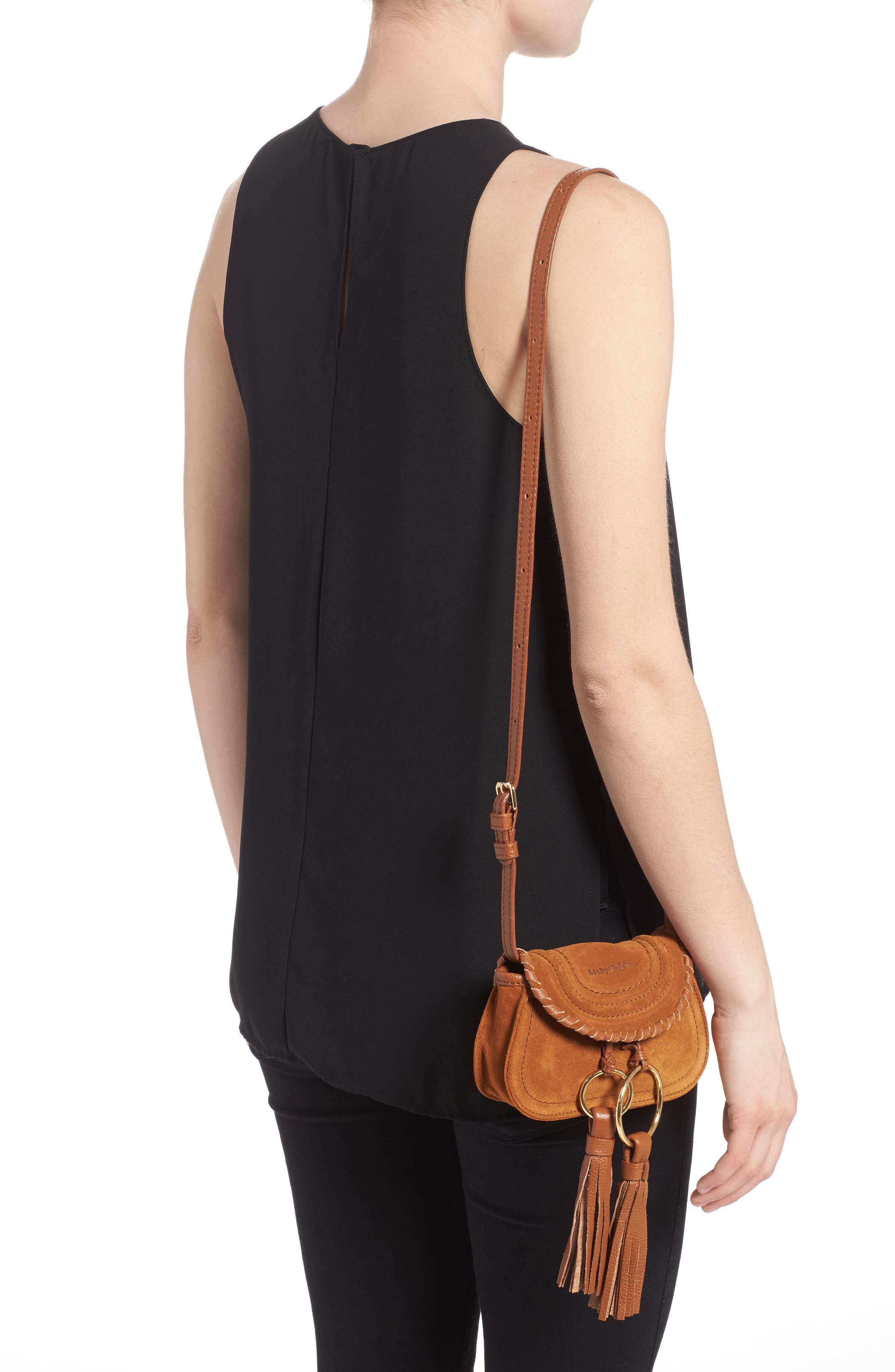 Polly Suede Convertible Crossbody Bag/Fanny Pack,                             Alternate thumbnail 2, color,                             Caramelo