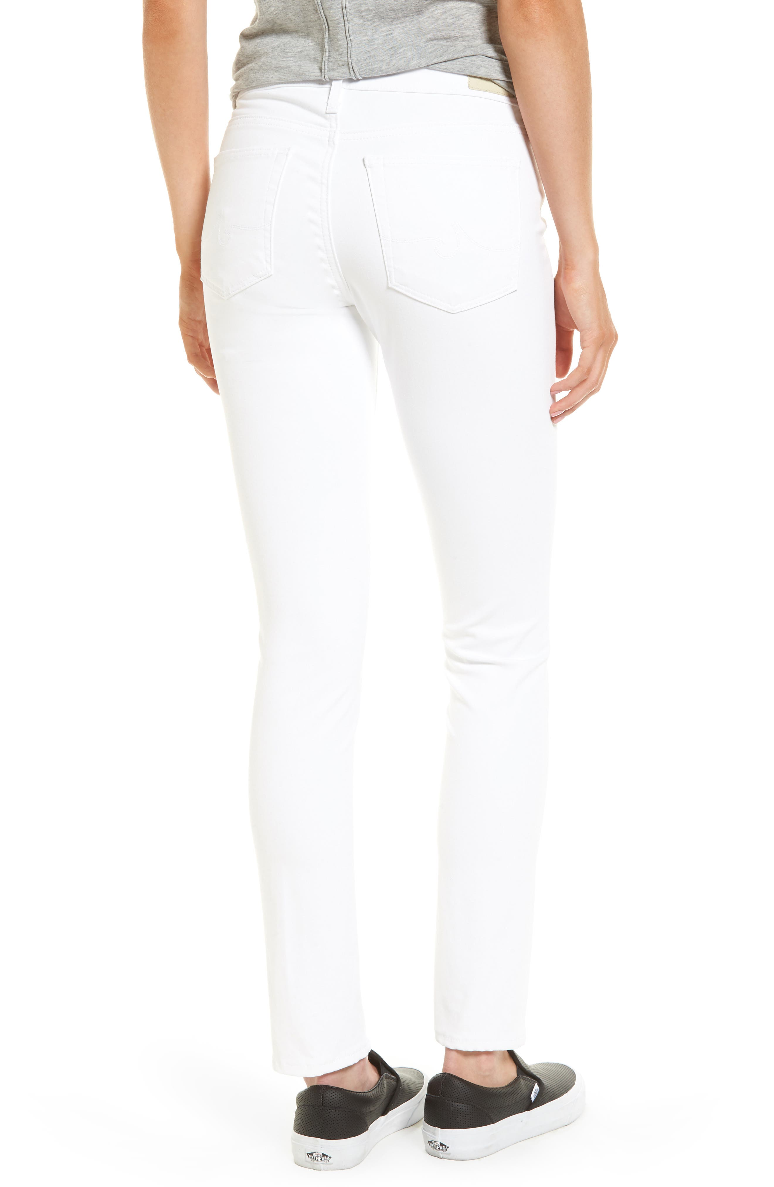 Prima Cigarette Leg Jeans,                             Alternate thumbnail 2, color,                             White