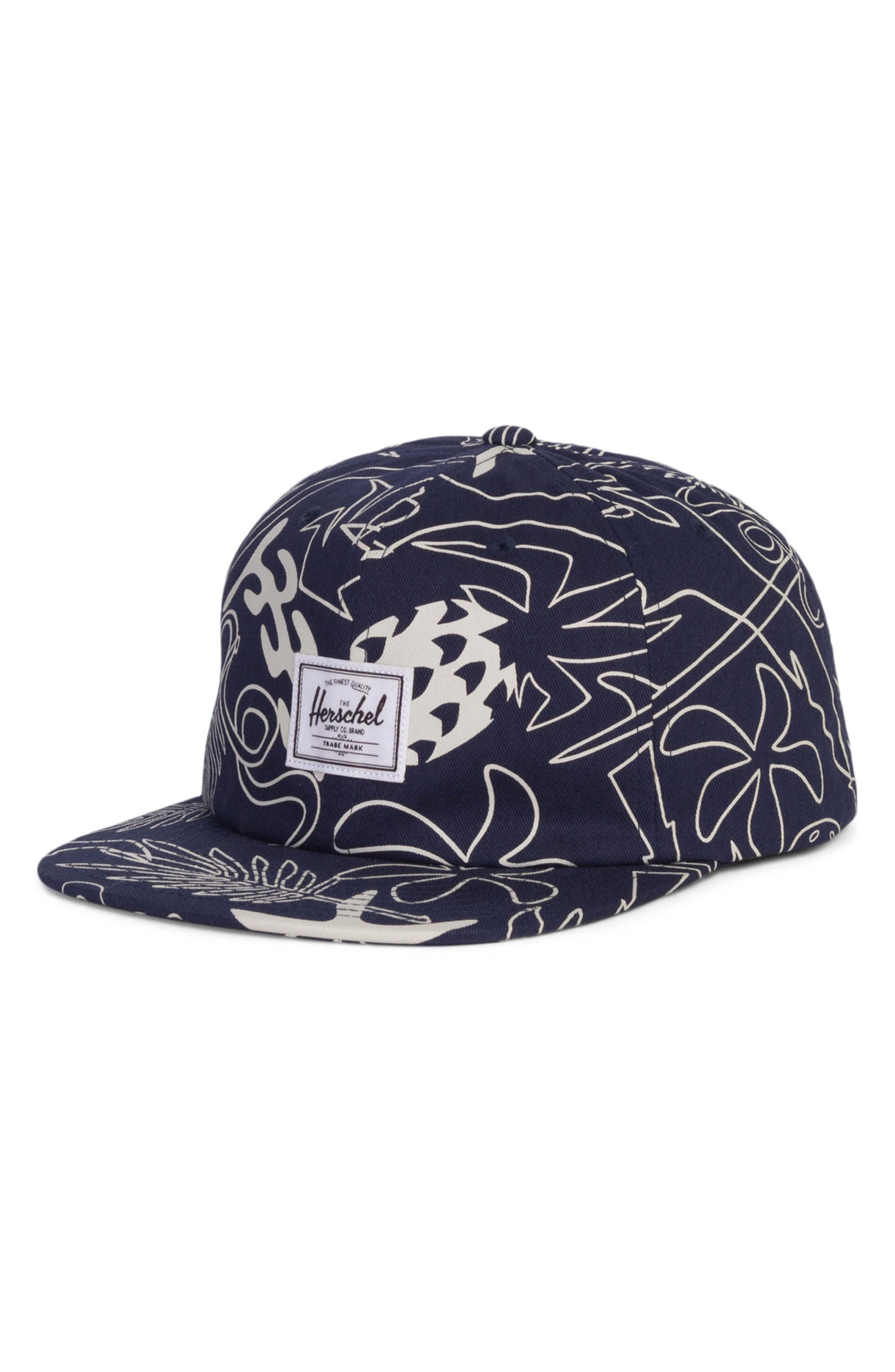Albert Baseball Cap,                         Main,                         color, Abstract Island