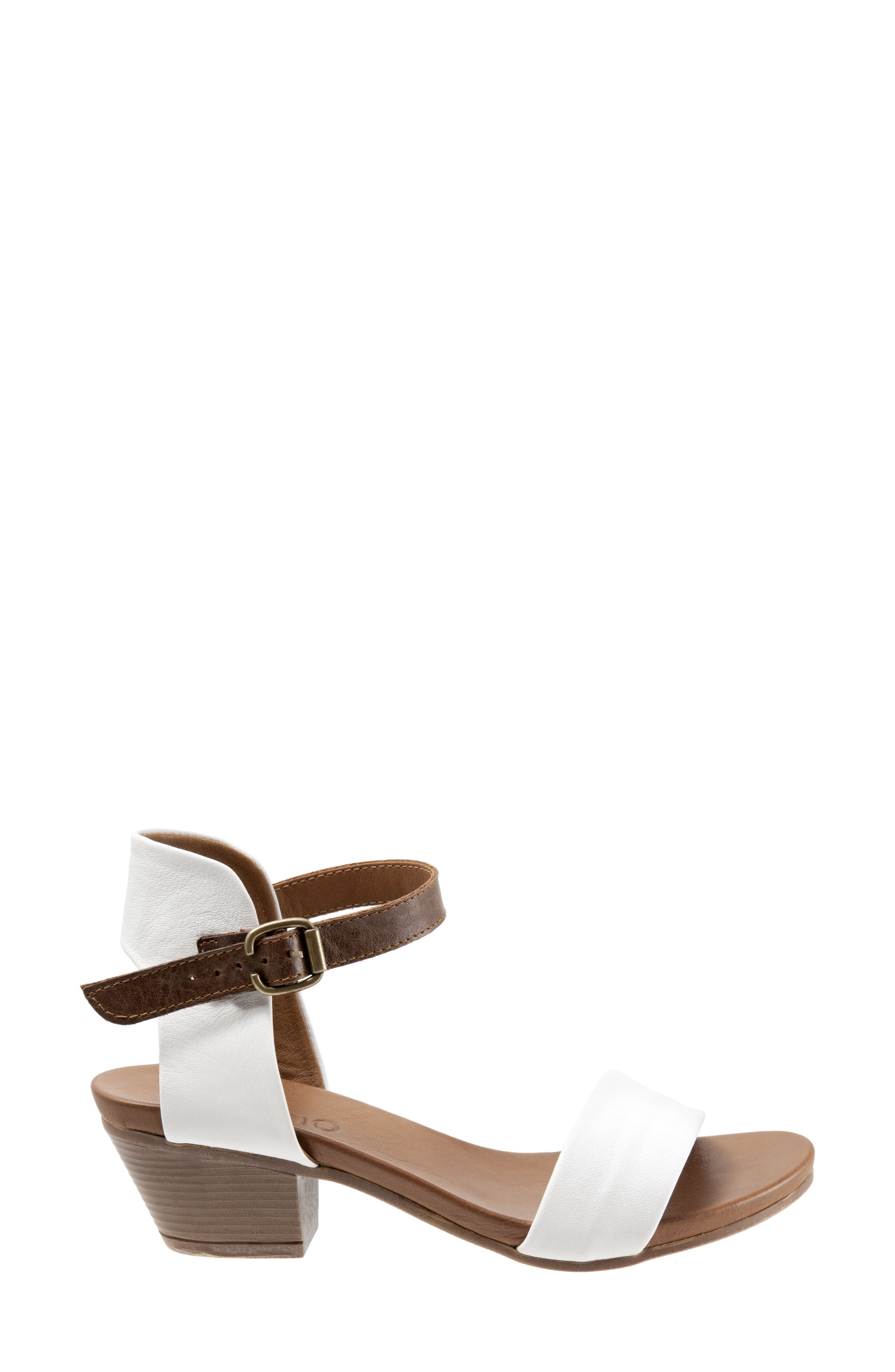 Sue Sandal,                             Alternate thumbnail 3, color,                             White Leather