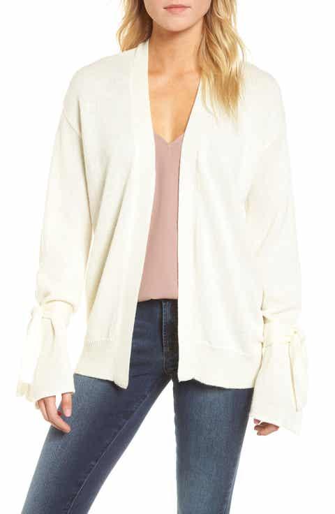 J.O.A. Tie Sleeve Cardigan Sweater