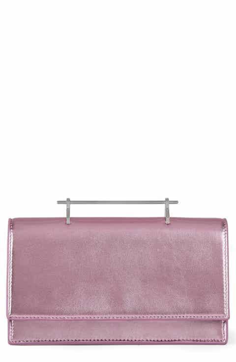 M2Malletier Alexia Metallic Leather Shoulder Bag