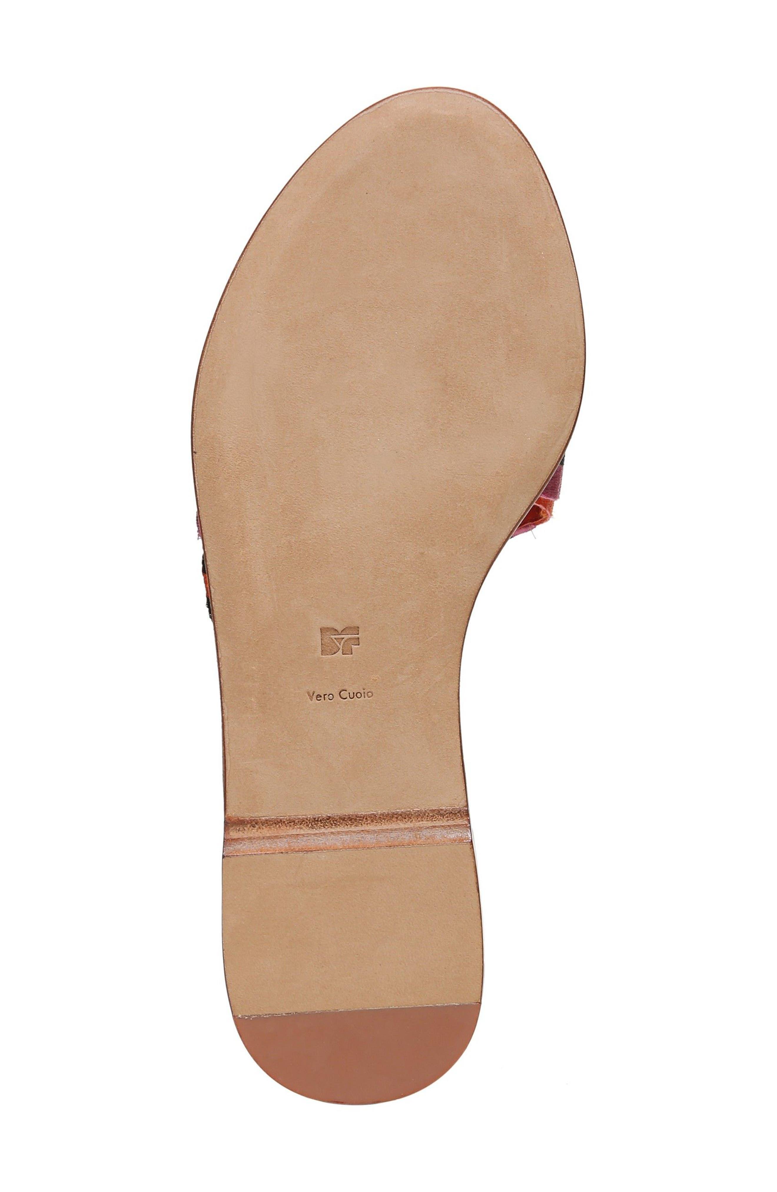 Bella Asymmetrical Slide Sandal,                             Alternate thumbnail 6, color,                             Rose Multi