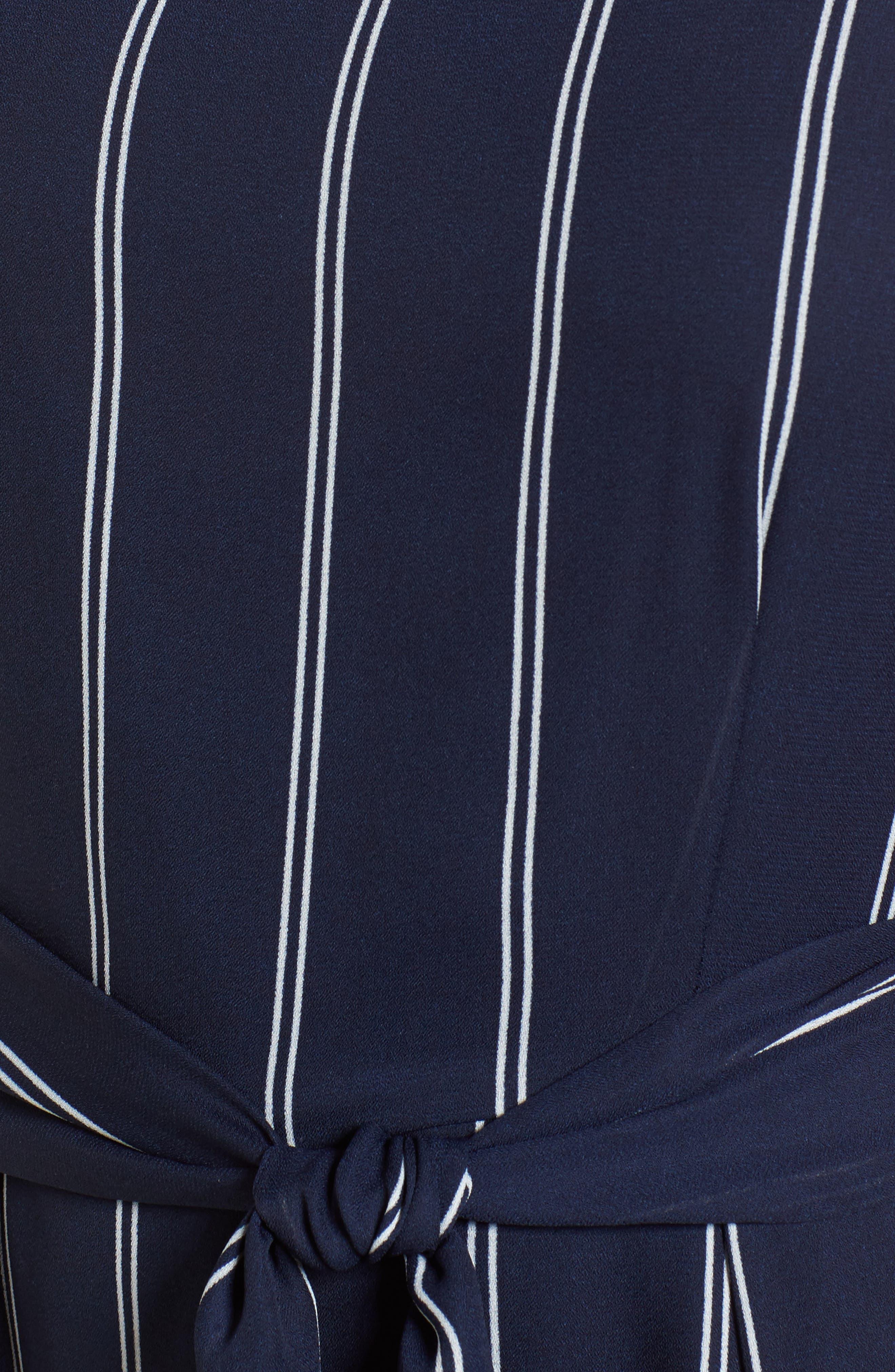 Stripe Jumpsuit,                             Alternate thumbnail 5, color,                             Navy/Ivory