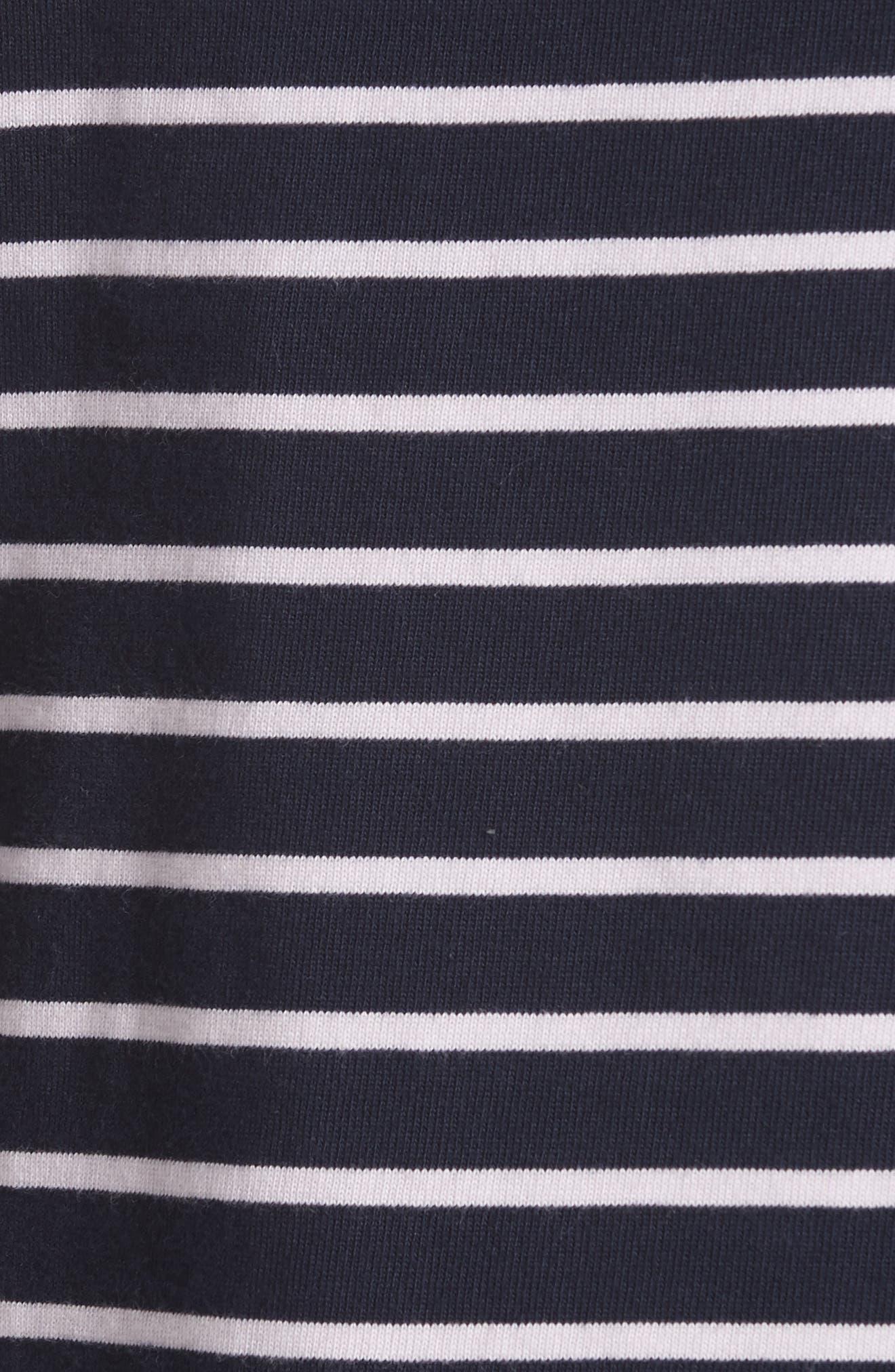 Stripe Top,                             Alternate thumbnail 5, color,                             Midnight Navy Combo