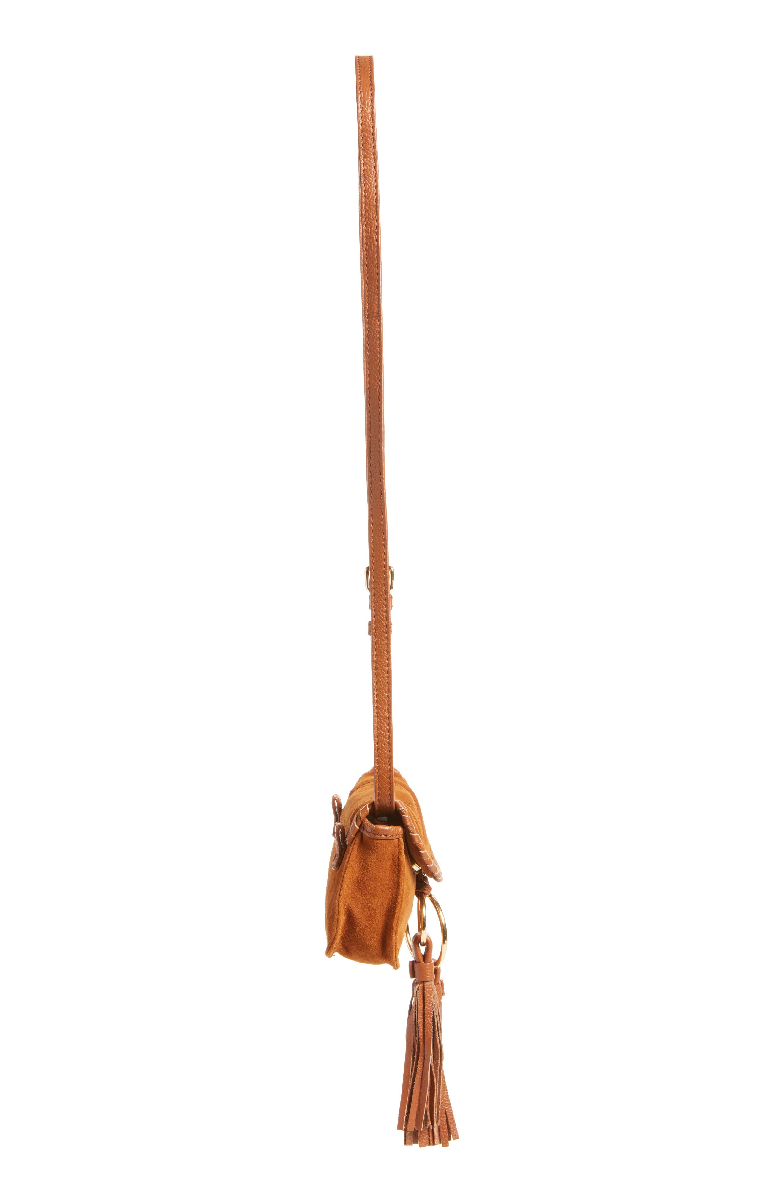Polly Suede Convertible Crossbody Bag/Fanny Pack,                             Alternate thumbnail 5, color,                             Caramelo