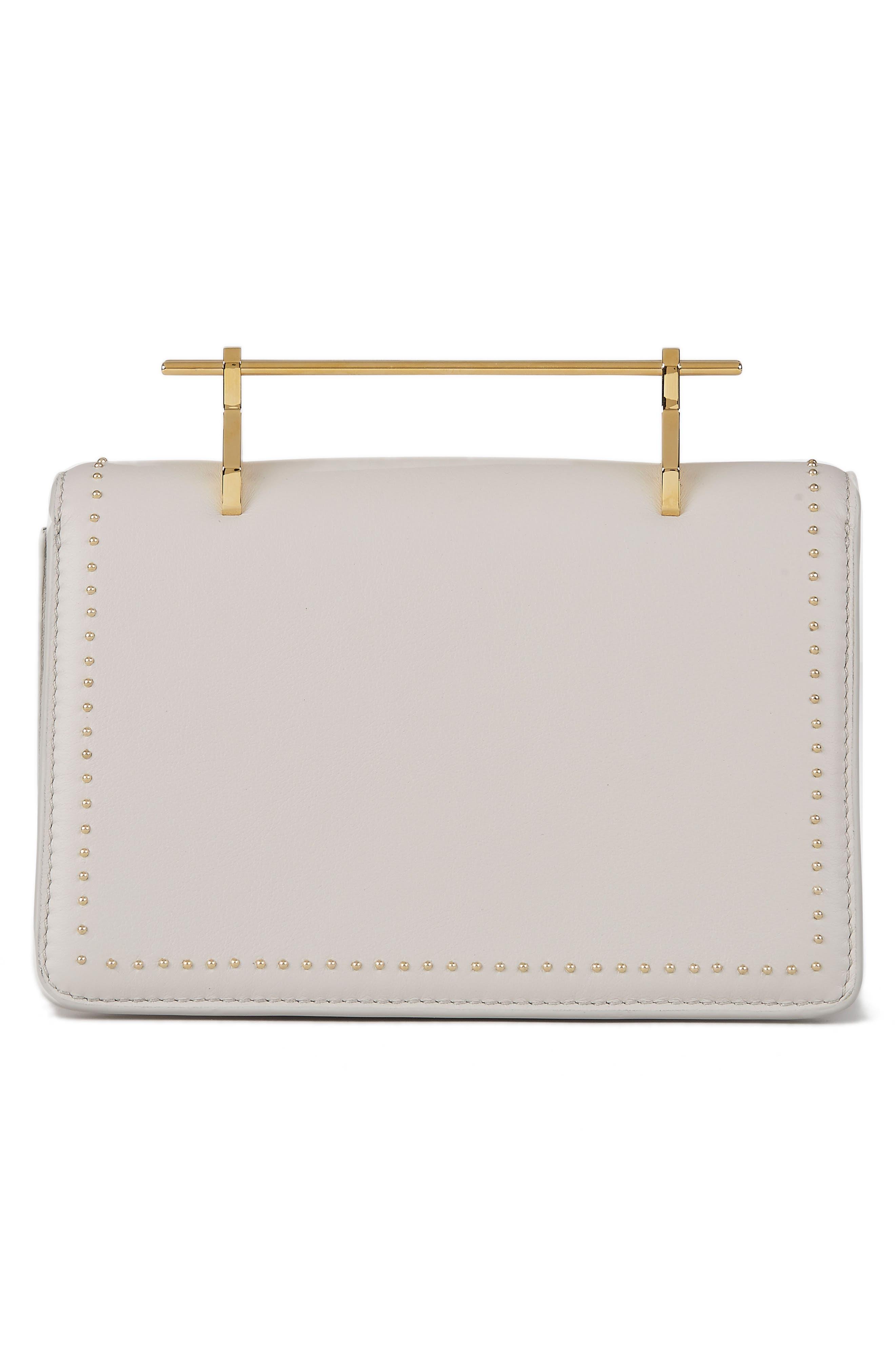 Indre Leather Shoulder Bag,                             Alternate thumbnail 2, color,                             Studded Cool Grey/ Gold