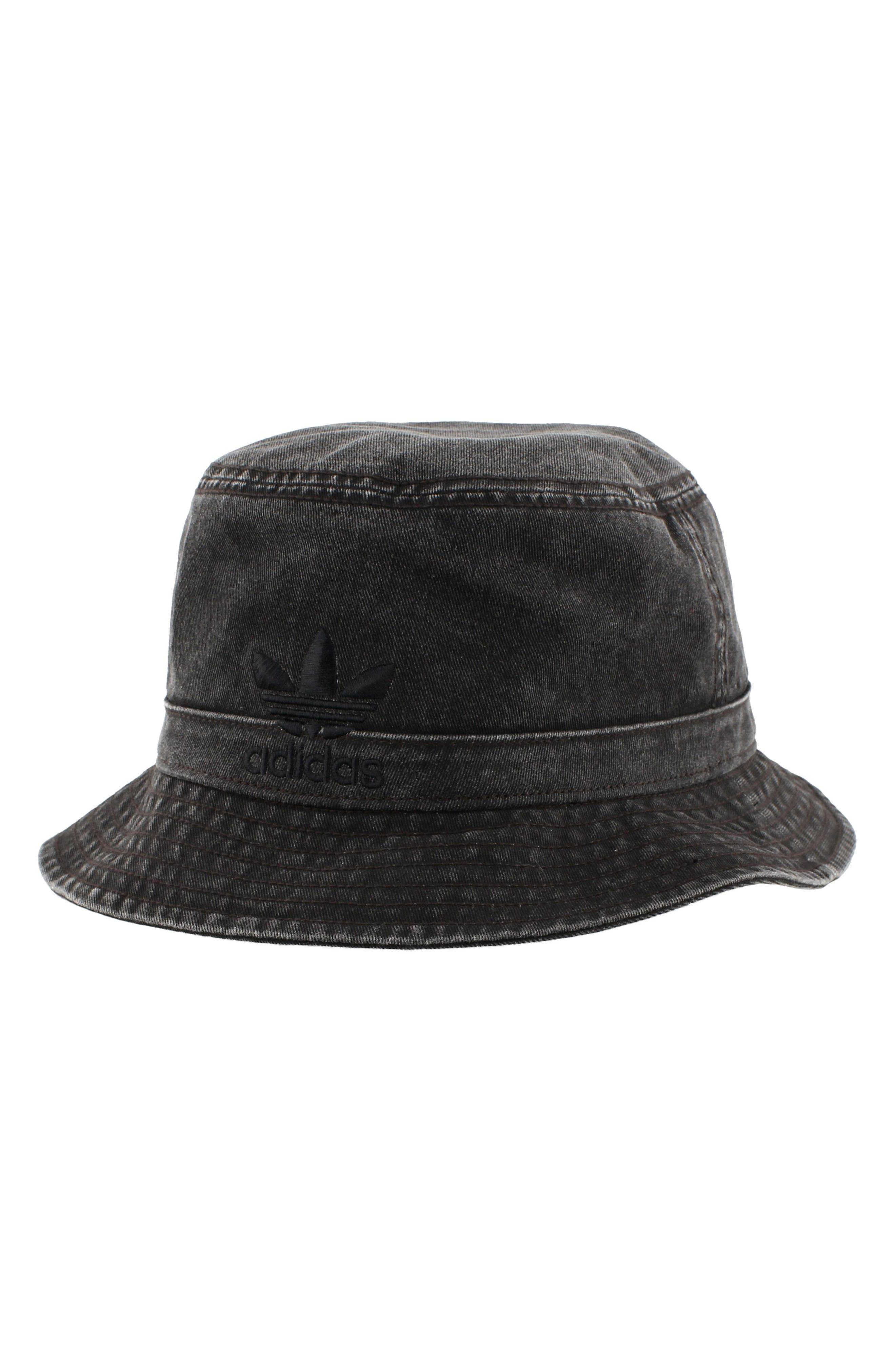 Washed Bucket Hat,                             Main thumbnail 1, color,                             Black/ Black