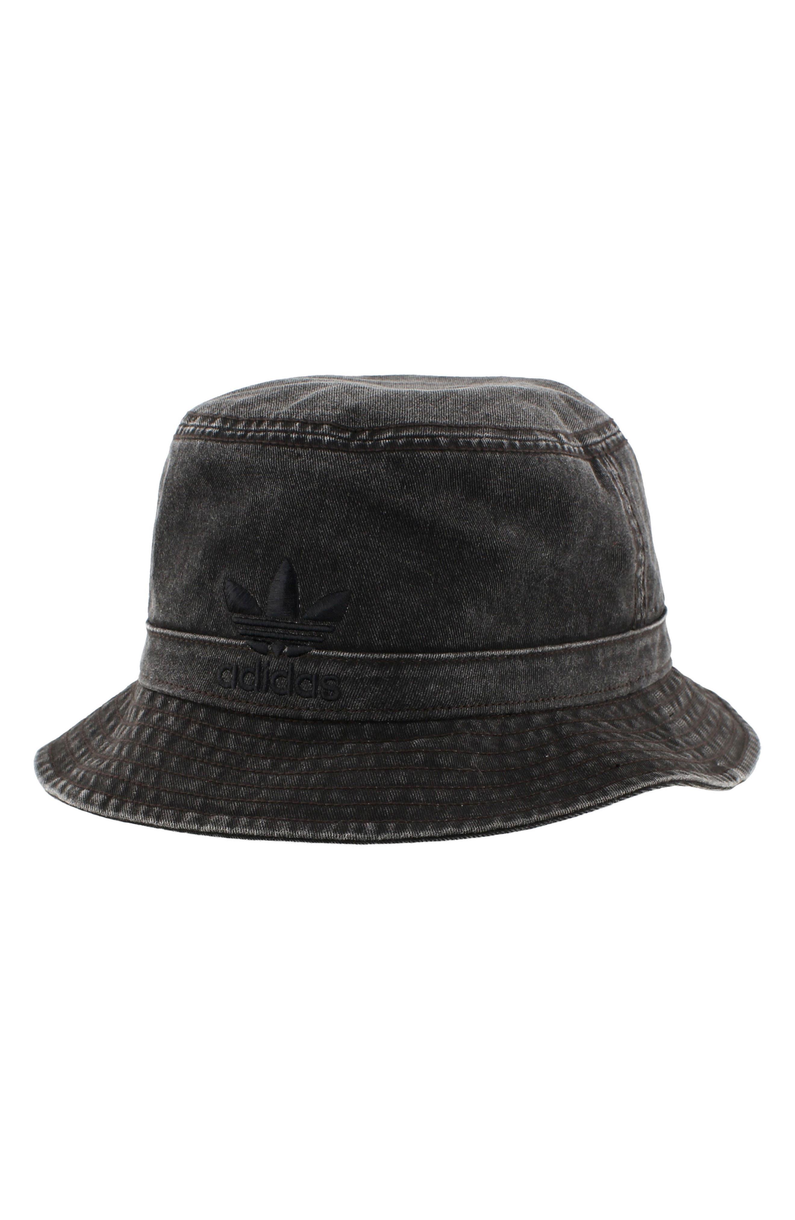 Washed Bucket Hat,                         Main,                         color, Black/ Black